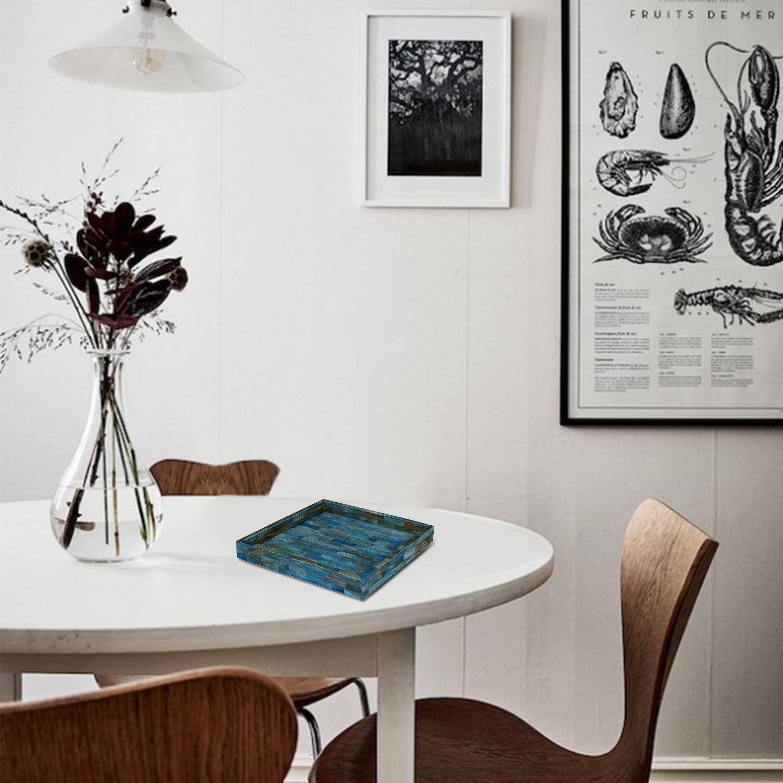 Handicrafts-Home-Verdigris-Ideal-Ottoman-Multipurpose-Serving-Decorative-Tray thumbnail 14