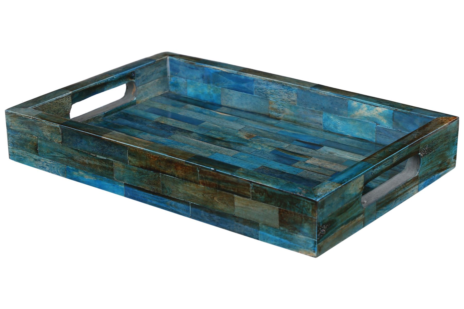 Handicrafts-Home-Verdigris-Ideal-Ottoman-Multipurpose-Serving-Decorative-Tray thumbnail 9