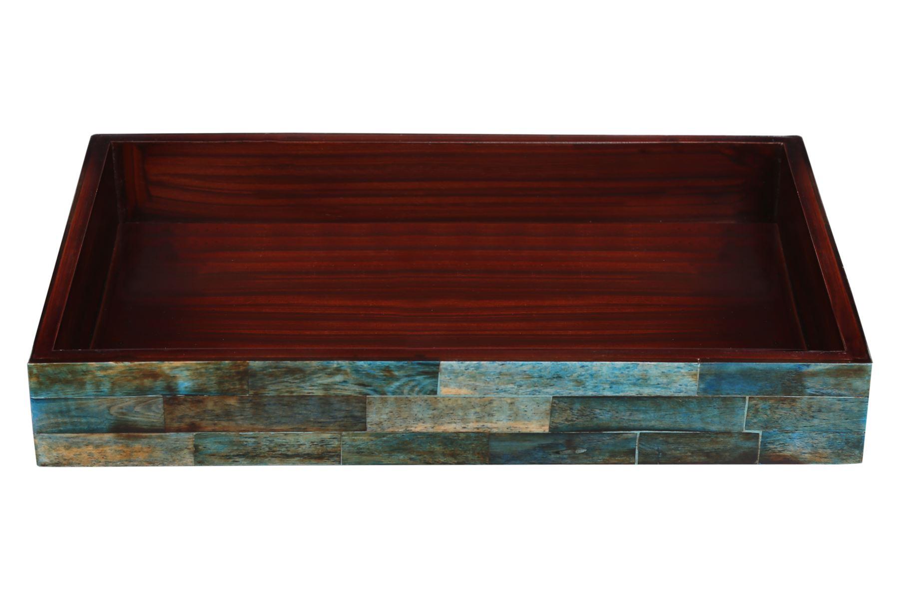 Handicrafts-Home-Verdigris-Ideal-Ottoman-Multipurpose-Serving-Decorative-Tray thumbnail 4