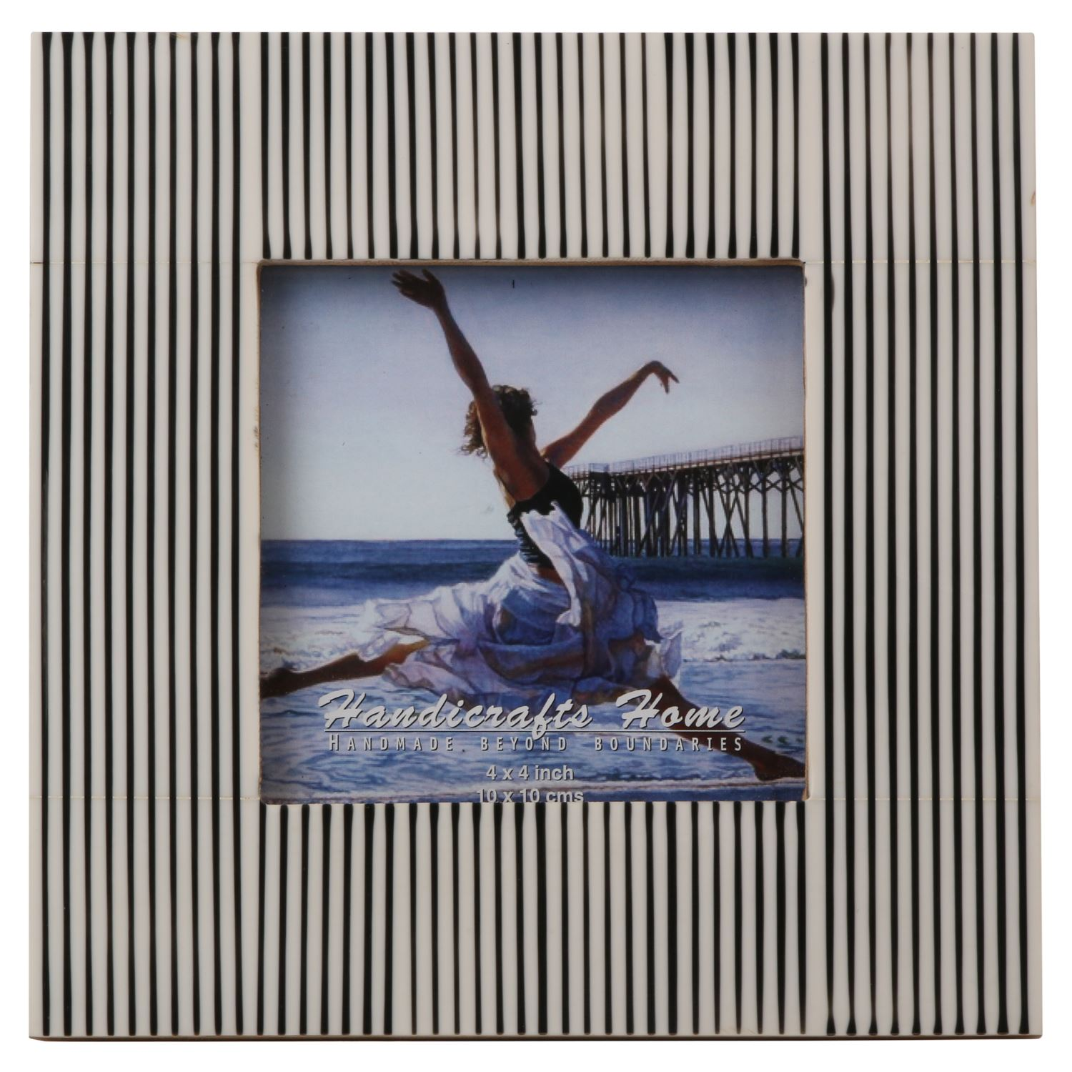 Resin Striped Picture Photo Frame Handmade Frames Photo Size 3x3 ...