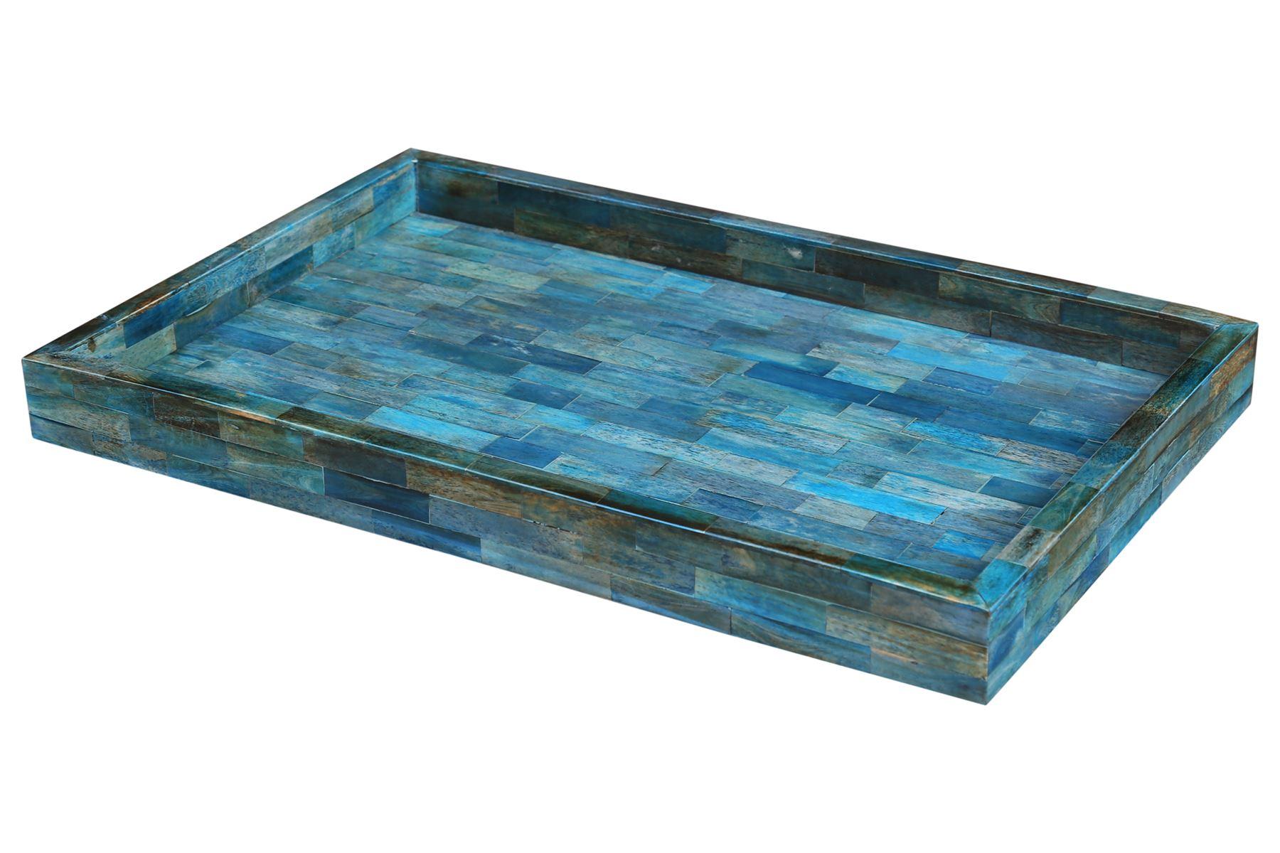 Handicrafts-Home-Verdigris-Ideal-Ottoman-Multipurpose-Serving-Decorative-Tray thumbnail 6