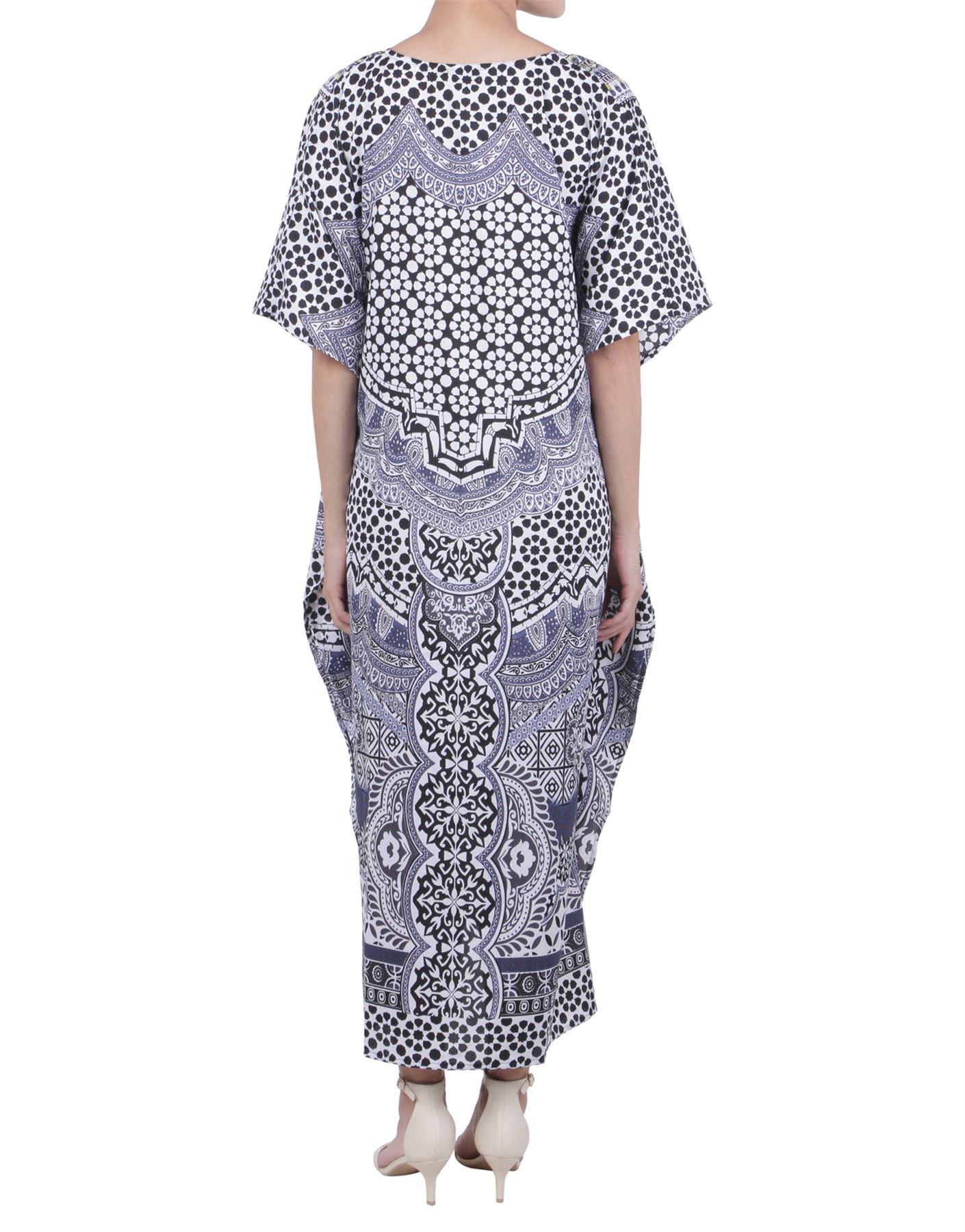 243d69ede77e Miss Lavish London Kaftan Tunic Plus Size Beach Cover Up Maxi Dress ...