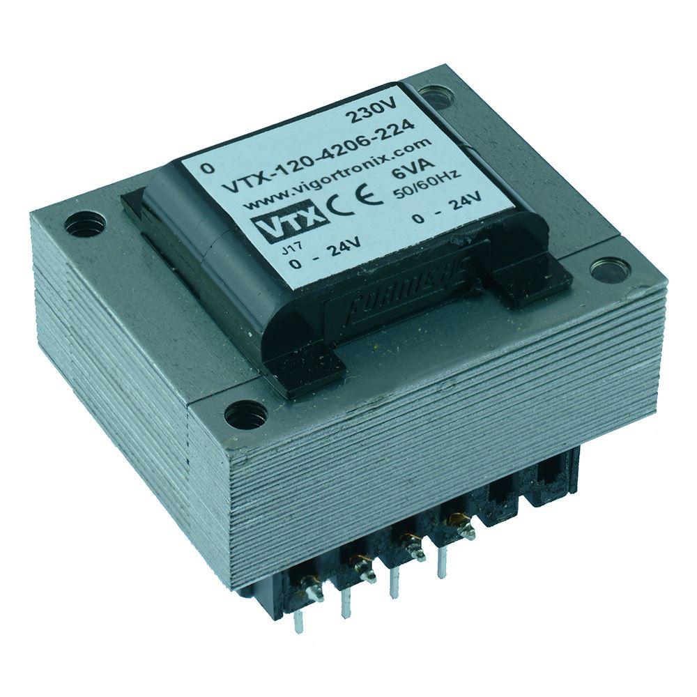 3VA 6VA 12VA PCB Transformateur 230 V Vigortronix double enroulements