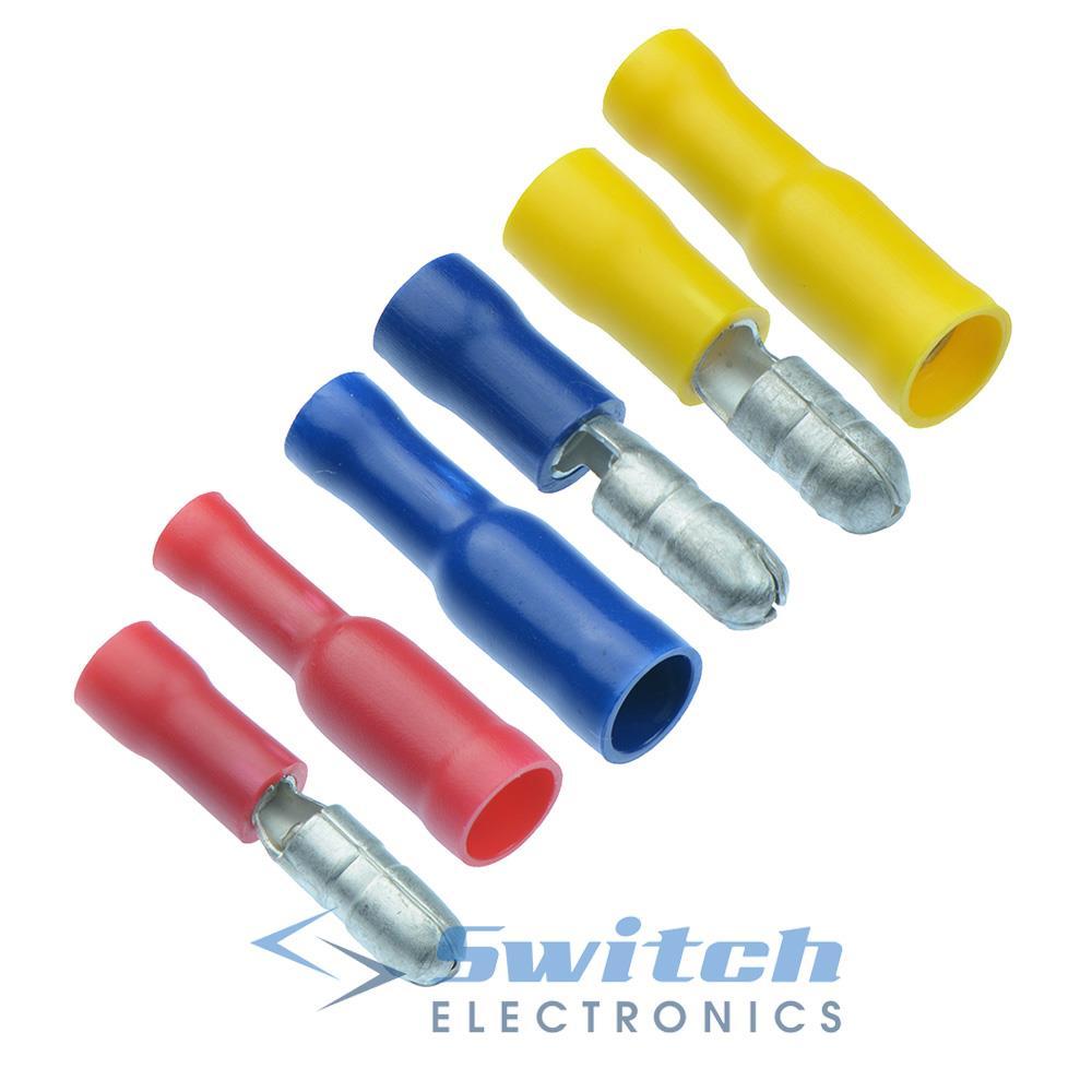 Jaune thermorétractables Femelle Balle Terminal connecteur électrique