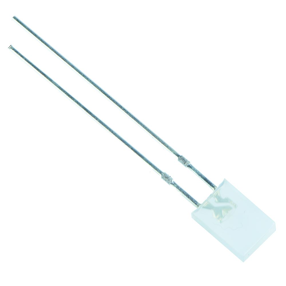flach 5 st LED; quadratisch; 5x5x7mm; warmweiß; 330-500mcd; 140°; Front