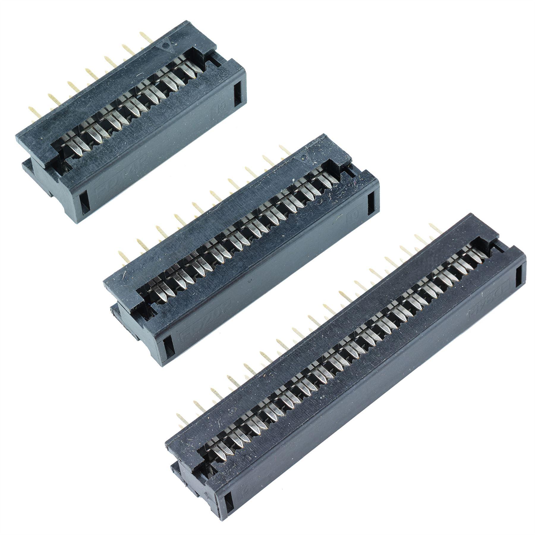 Flat Ribbon Cable Idc Socket Plug Connector 2 54mm Pitch Ebay