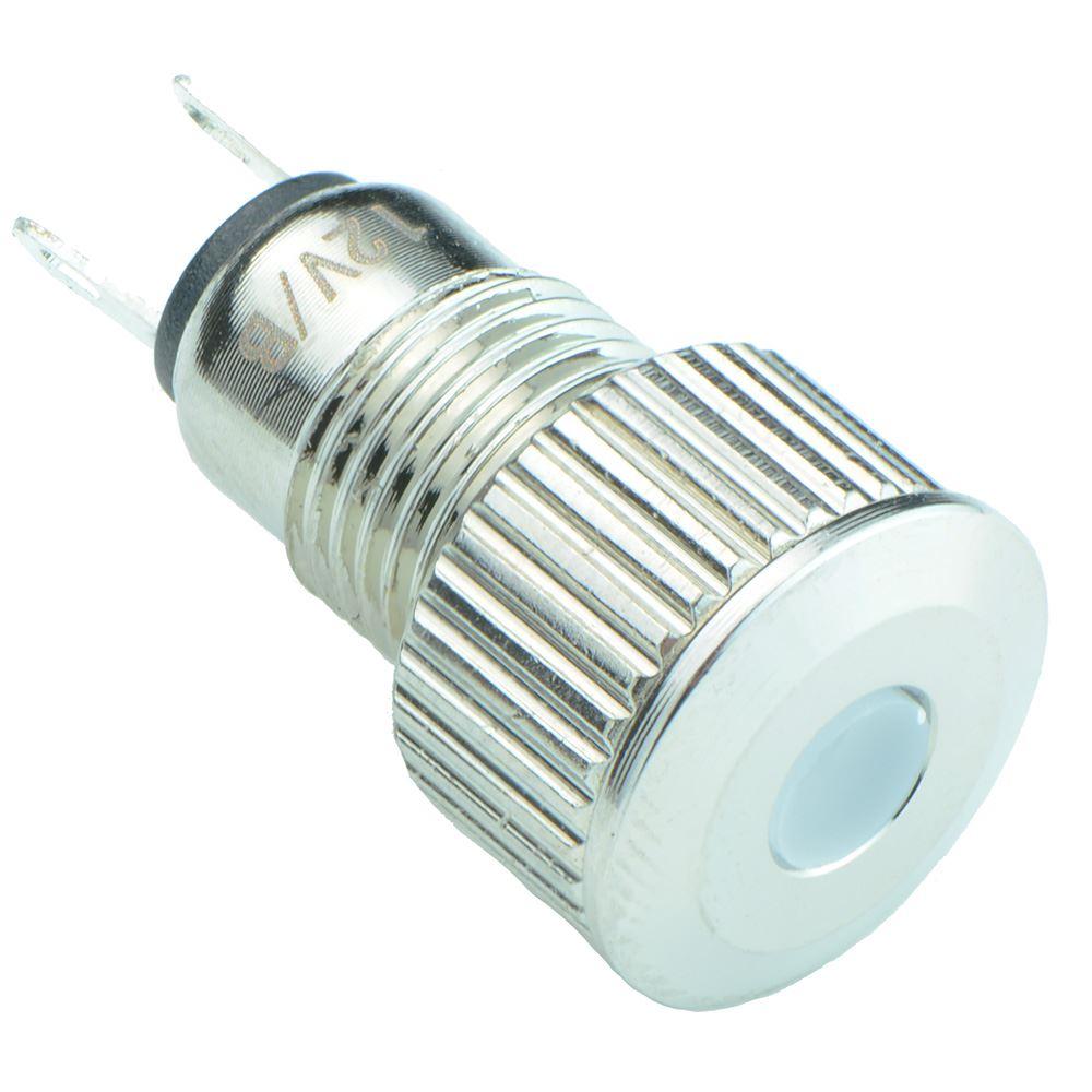 Yellow Vandal Resistant 8mm Metal LED Indicator IP65