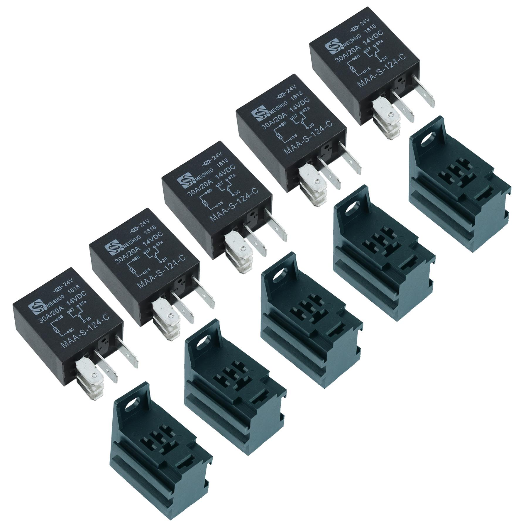 5 X 12v Micro Automotive Changeover Relay 30a 5