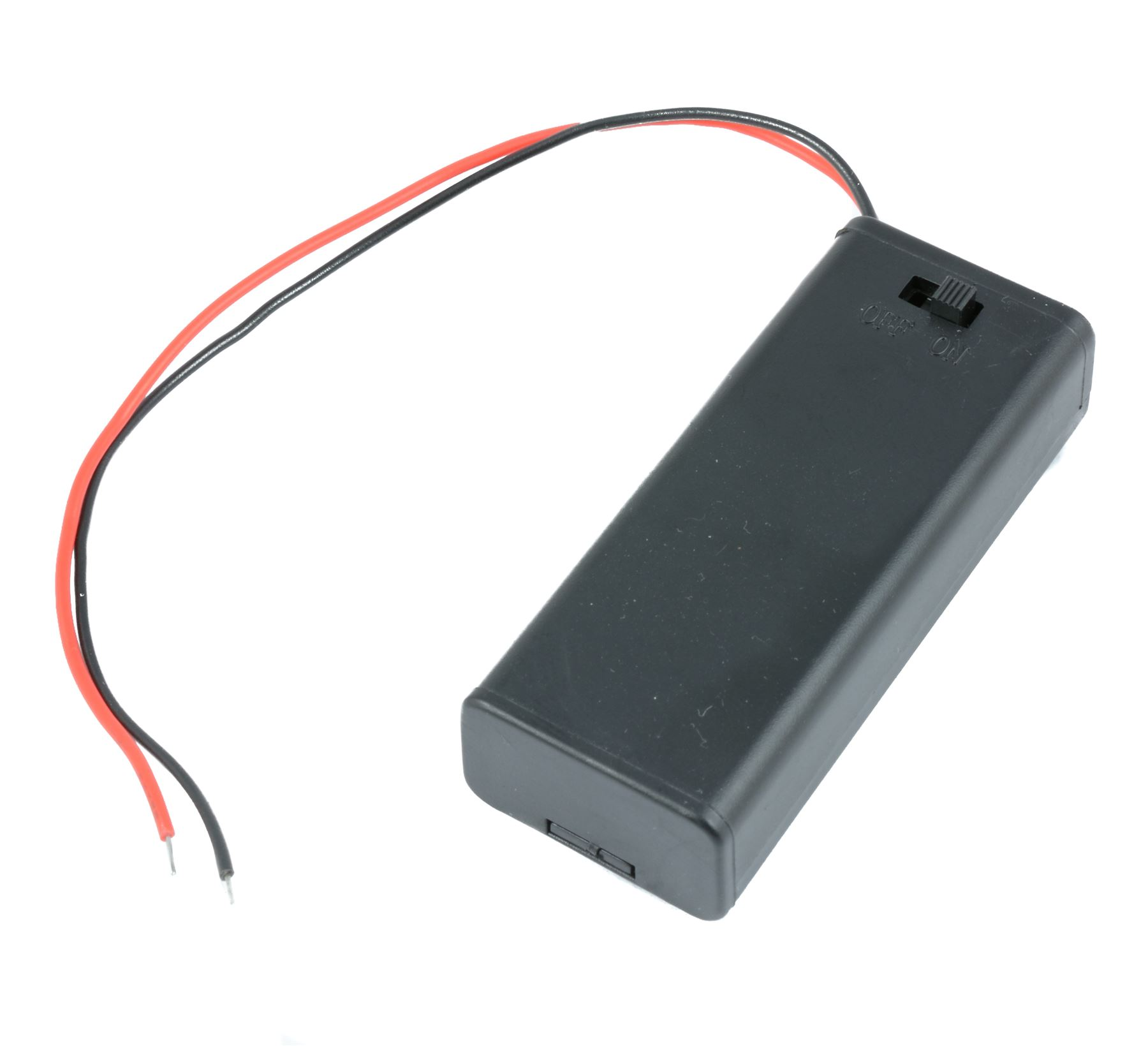 4 x 1.5V Cell AAA Battery Holder Case Enclosed Box Plastic With Switch 15cm Wire