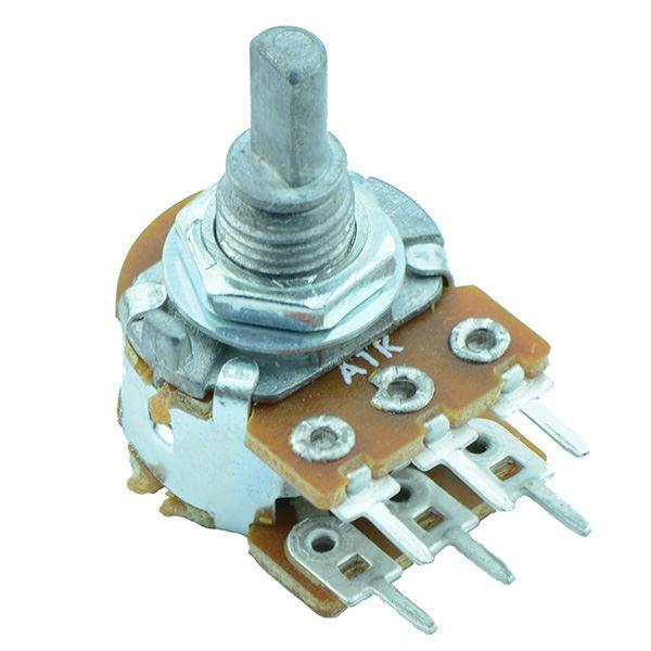 200k Linear 16mm Stereo Splined Potentiometer Pot
