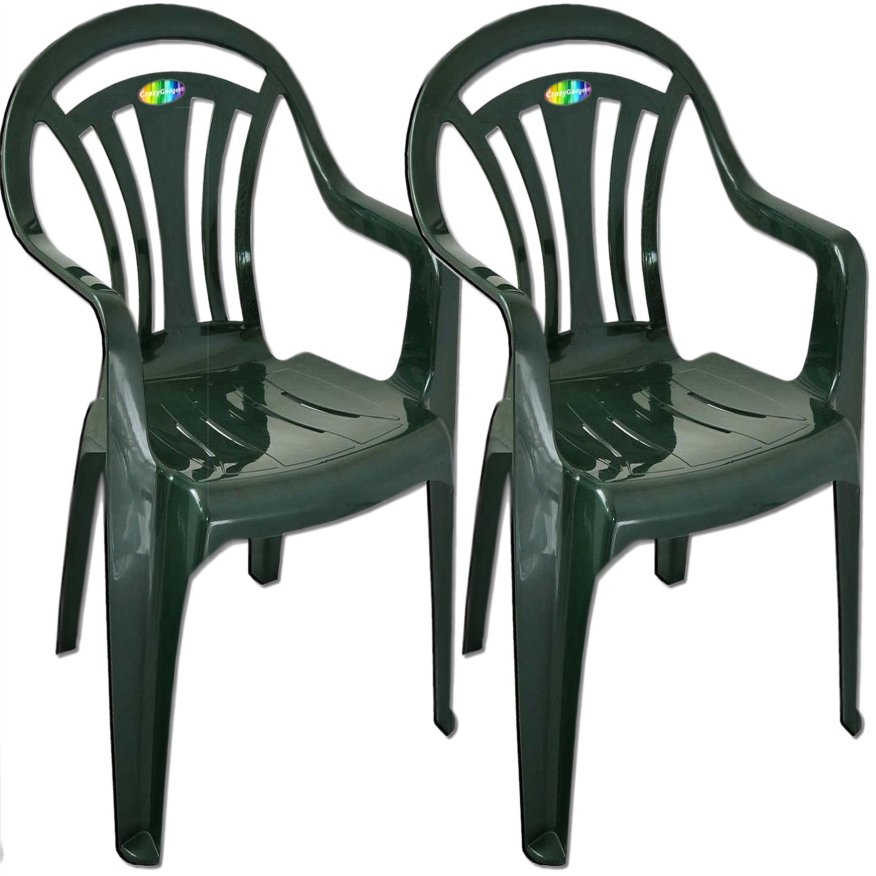Plastic Garden Low Back Chair Stackable Patio Outdoor Party Seat Chairs Picni