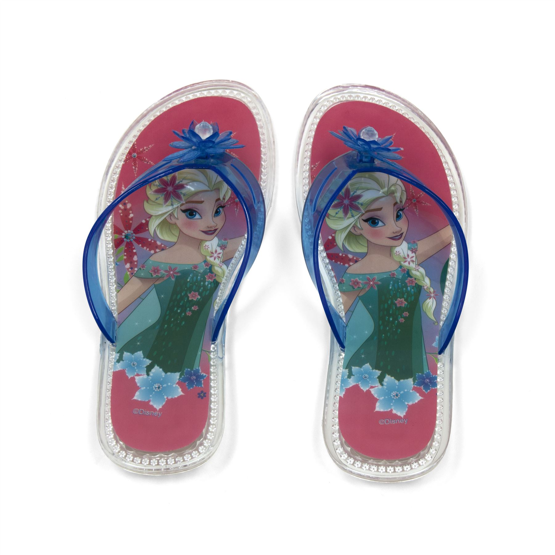 dd0a345469fce Disney® Frozen Elsa Girls Flip Flops Sandals Slippers Shoes UK Sizes 10 to  2.5