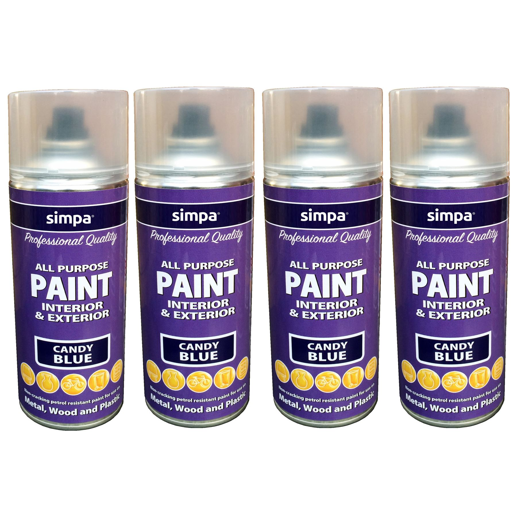 400ml simpa candy gloss effect spray paint crack proof. Black Bedroom Furniture Sets. Home Design Ideas