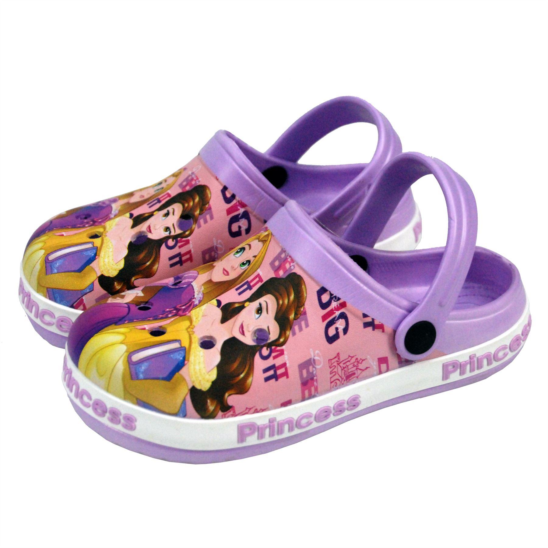 Disney Princes Kids Girls Sandals Beach Slippers Shoes UK Sizes 5
