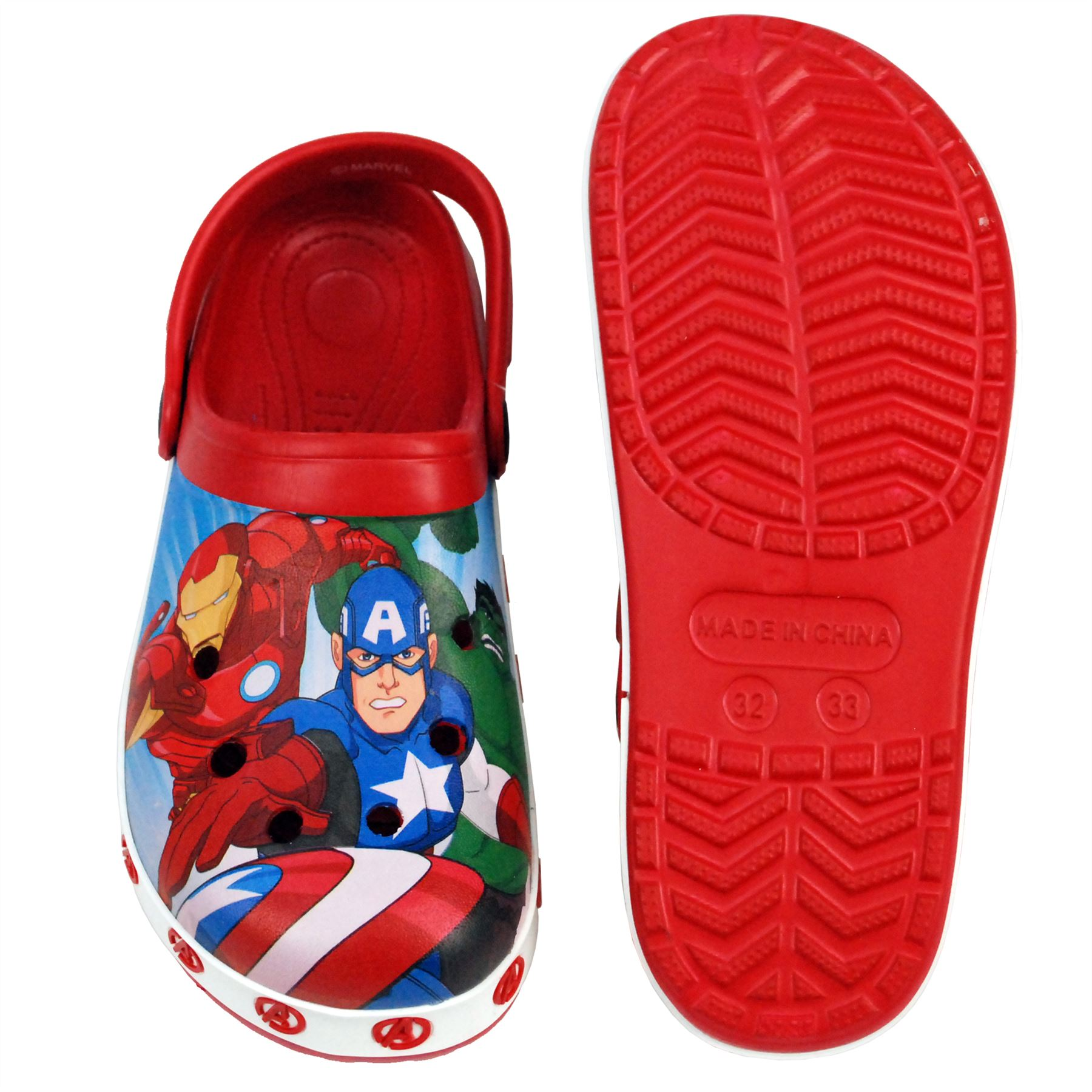 68ca9cb10dad4 Details about Marvel® Avenger Boys Sandals Swimming Pool Beach Slippers UK  Sizes