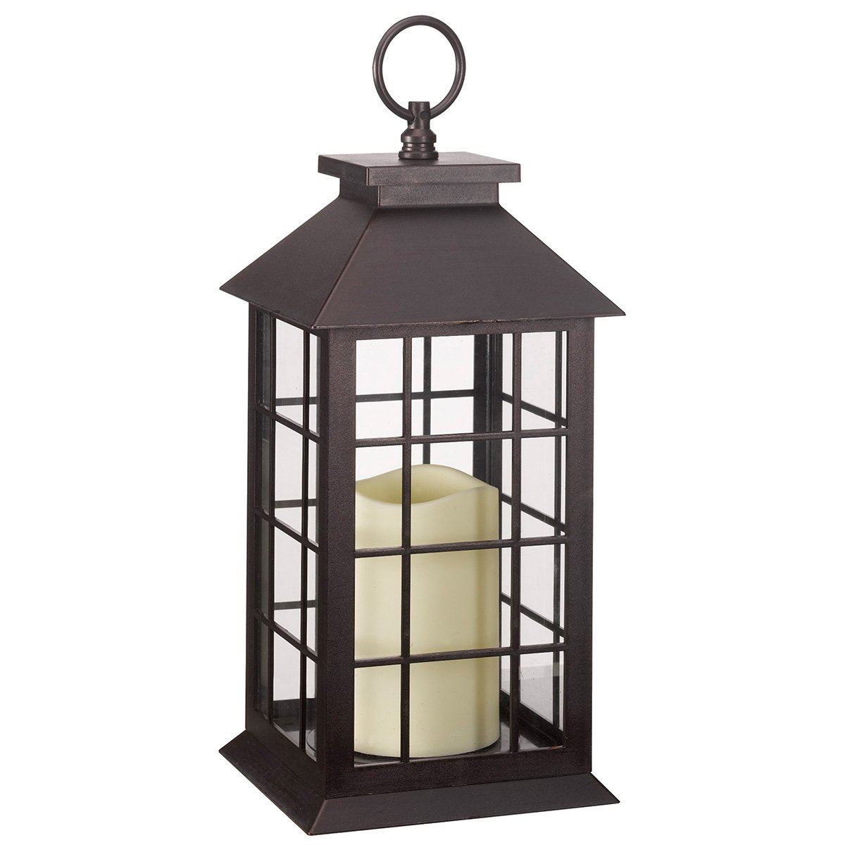 Battery operated window candles with timer - Crazygadget Battery Operated Window Lantern With Timer Amp