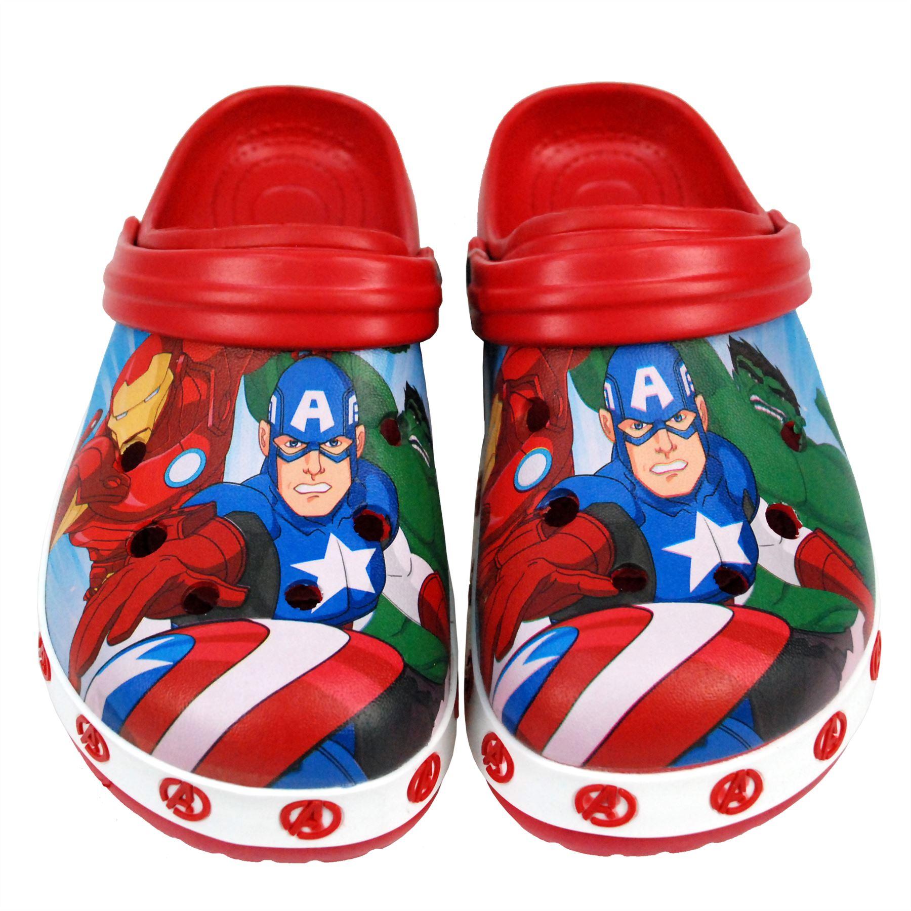 64f99721b7003 Marvel® Avenger Kids Boys Sandals Pool Beach Slippers Shoes UK Sizes ...