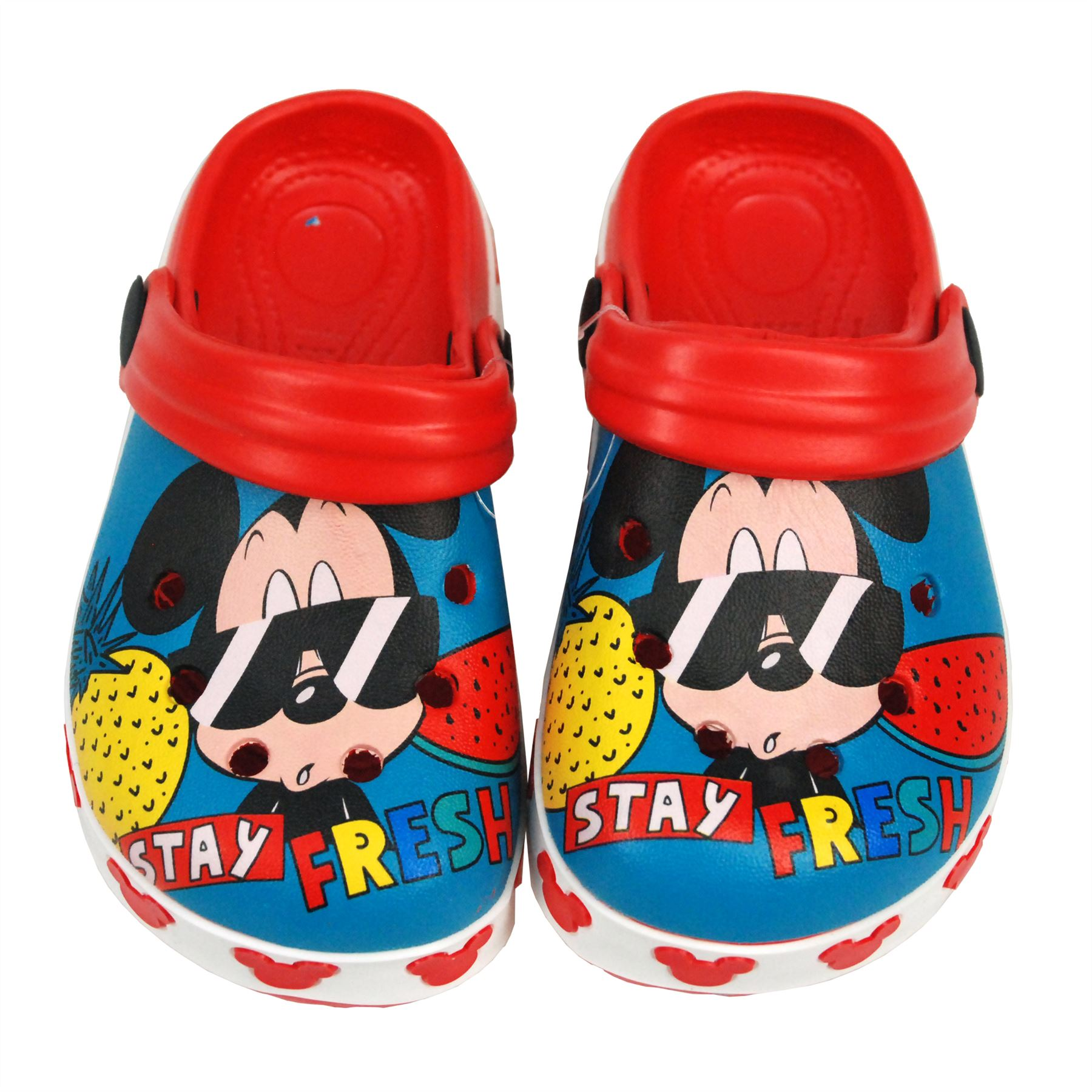 Disney Mickey Mouse Kids Sandals Pool Beach Slippers Shoes UK Sizes