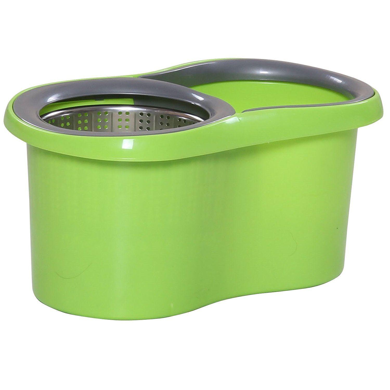 360 176 Floor Magic Spin 15 Litre Mop Bucket Stainless Steel