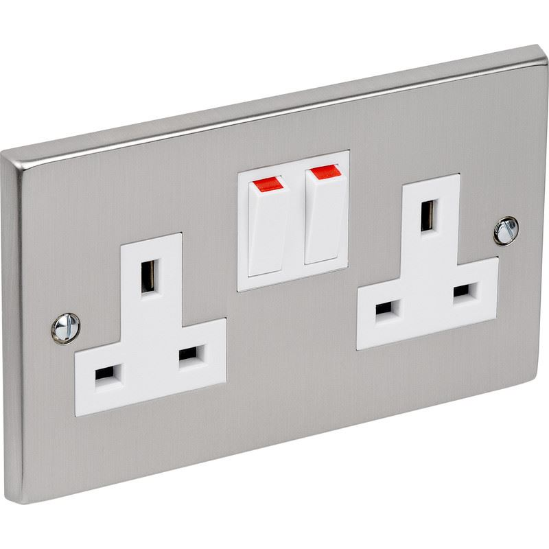 Crabtree Wall Plug Socket Faceplate Cooker Switches Matte Chrome ...