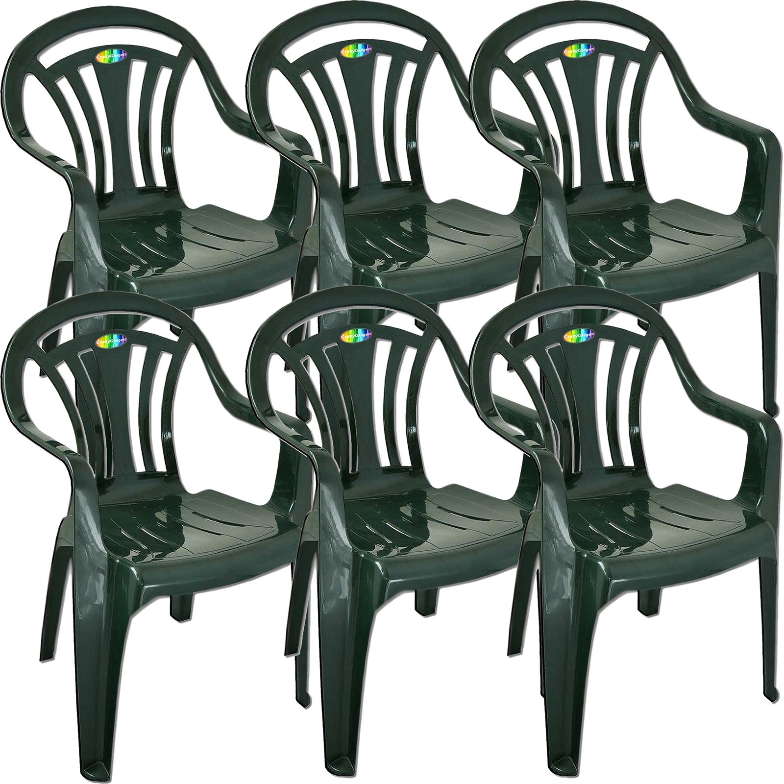 Outdoor Plastic Stackable Patio Lawn Garden Chair Durable Leightweight Colours