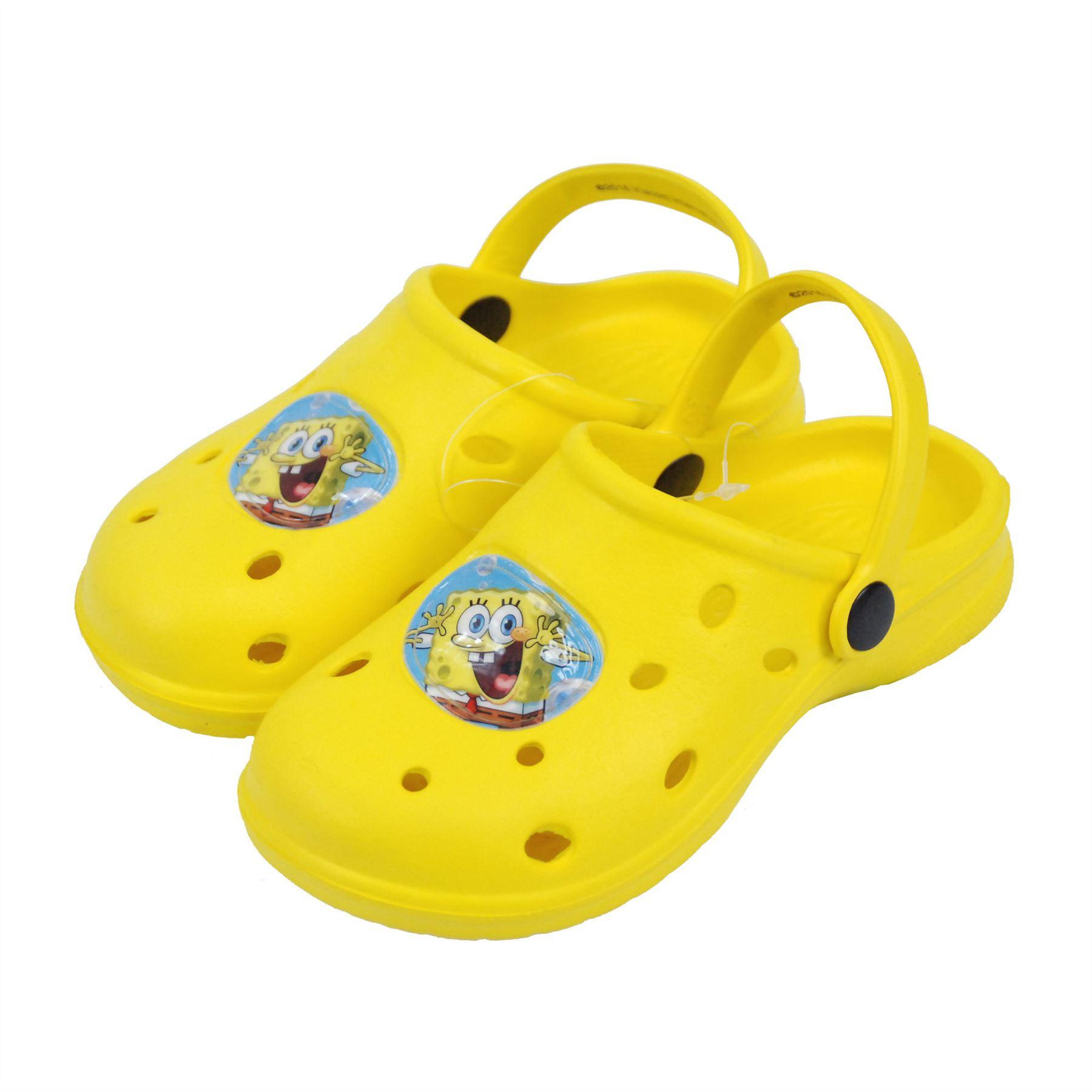 8b57517fc151 Nickelodeon® SpongeBob Kids Sandals Crocs Beach Shoes UK Sizes ...