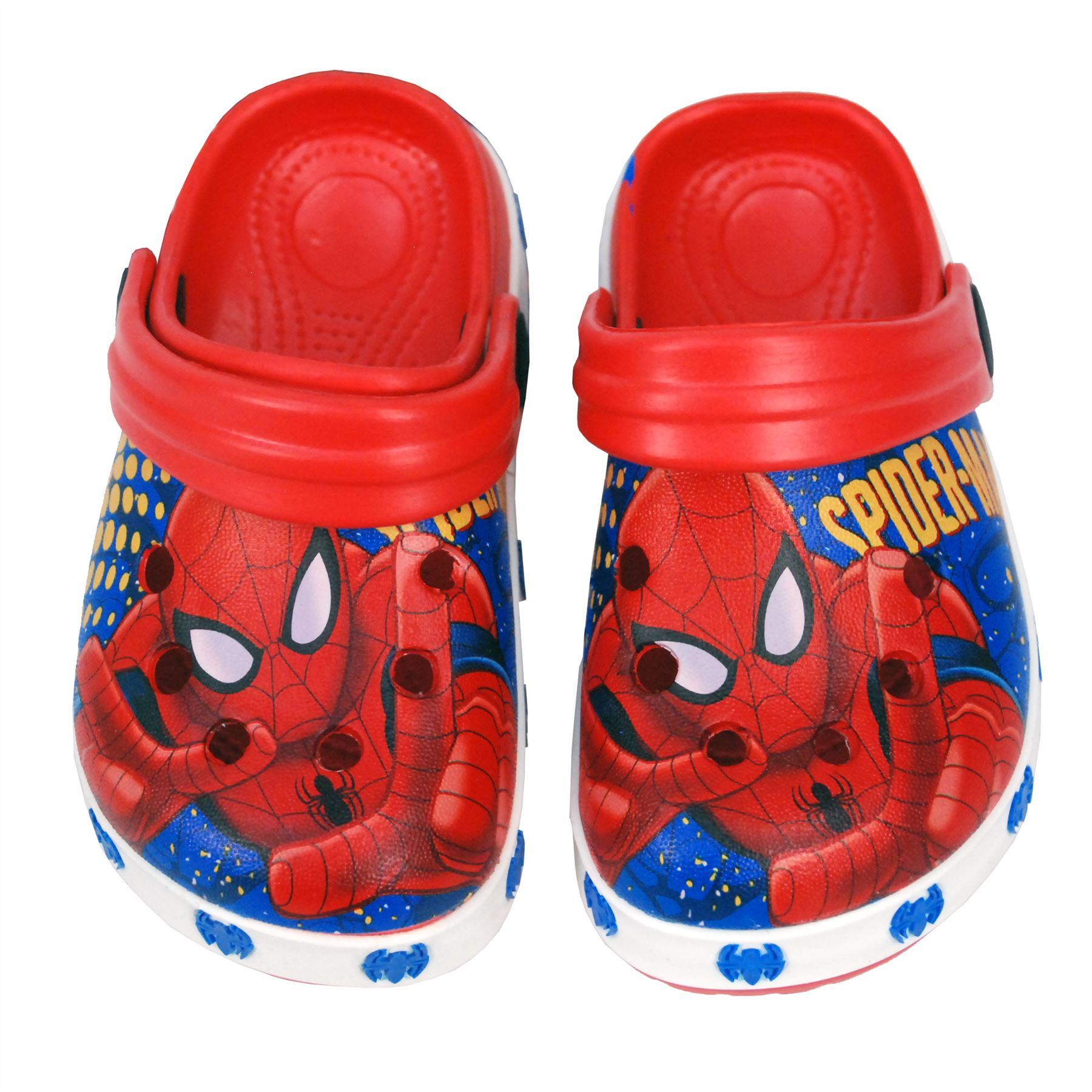 71f9eb3d9 Marvel® Spider Man Kids Boys Sandals Beach Slippers Shoes UK Sizes 5 to 1