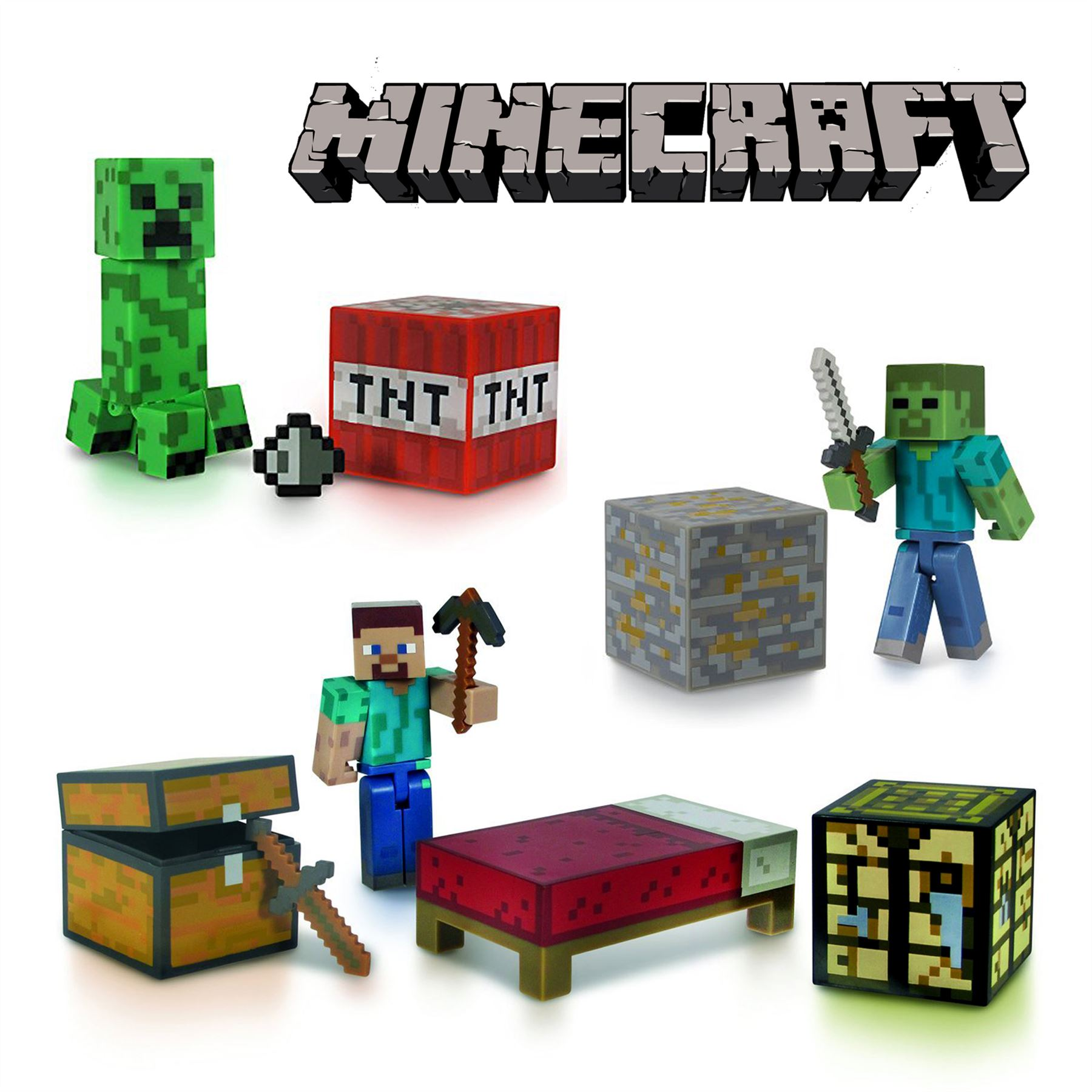 Minecraft Toys And Mini Figures For Kids : Genuine minecraft toy sets zombie creeper survival