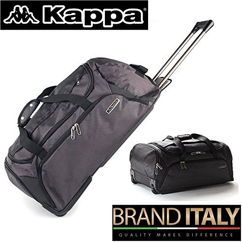 Kappa Large Travel Trolley Luggage Bag With Wheels Roller Black grey ... 0dcf1aabe1e19