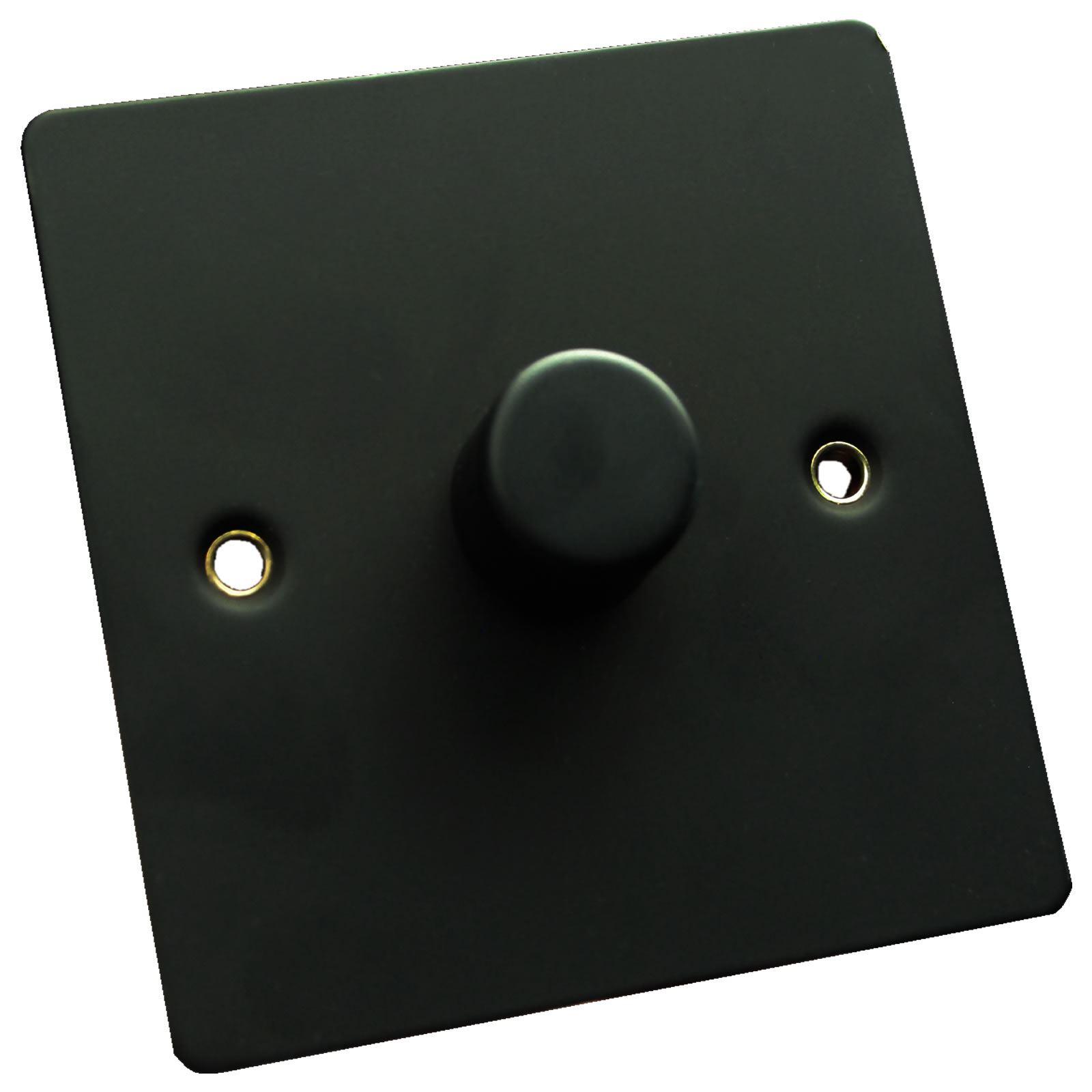 Flat Matte Black Dimmer Light Switch 400w 1 Gang Or 2 Way Main