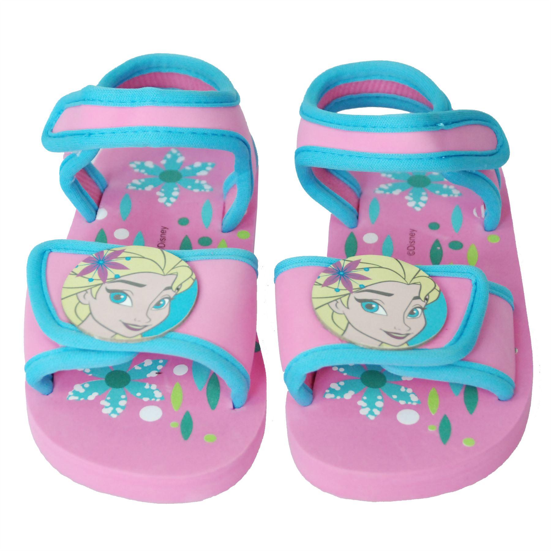 Disney Frozen Girls Velcro Walking Sandals Indoor Outdoor Beach