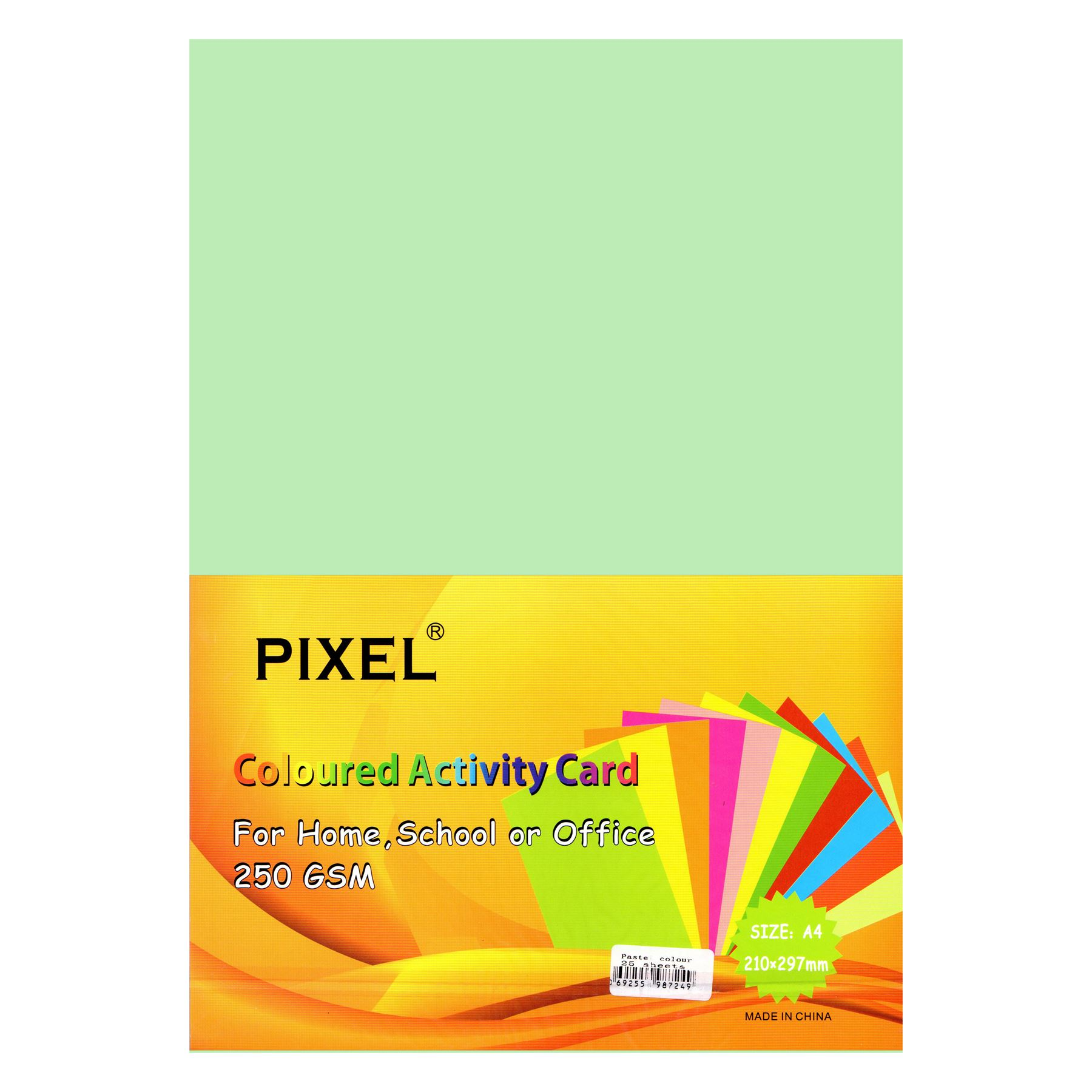 Pixel® A4 Card for Home, School, Office (Pastel - 250GSM - 25 Sheets)