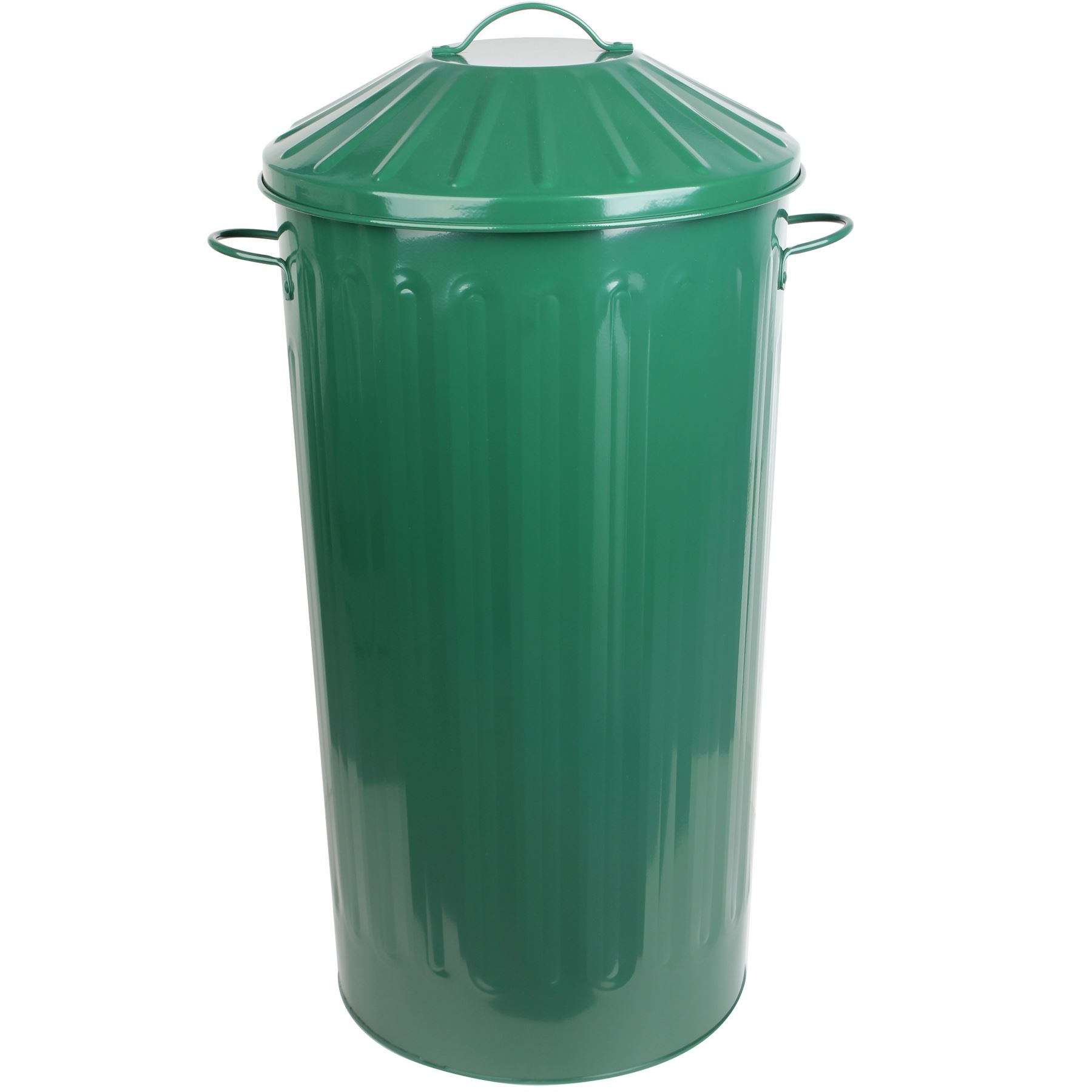Metal 50 Litre Home Kitchen Colour Recycle Dustbin Rubbish Waste Bin ...