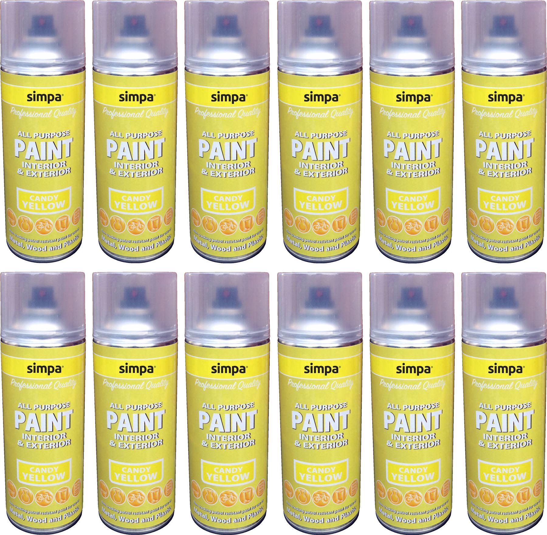 Superb Candy Yellow Spray Paint Part - 7: Candy-Gloss-Simpa-Professional-DIY-Car-Van-Anti-