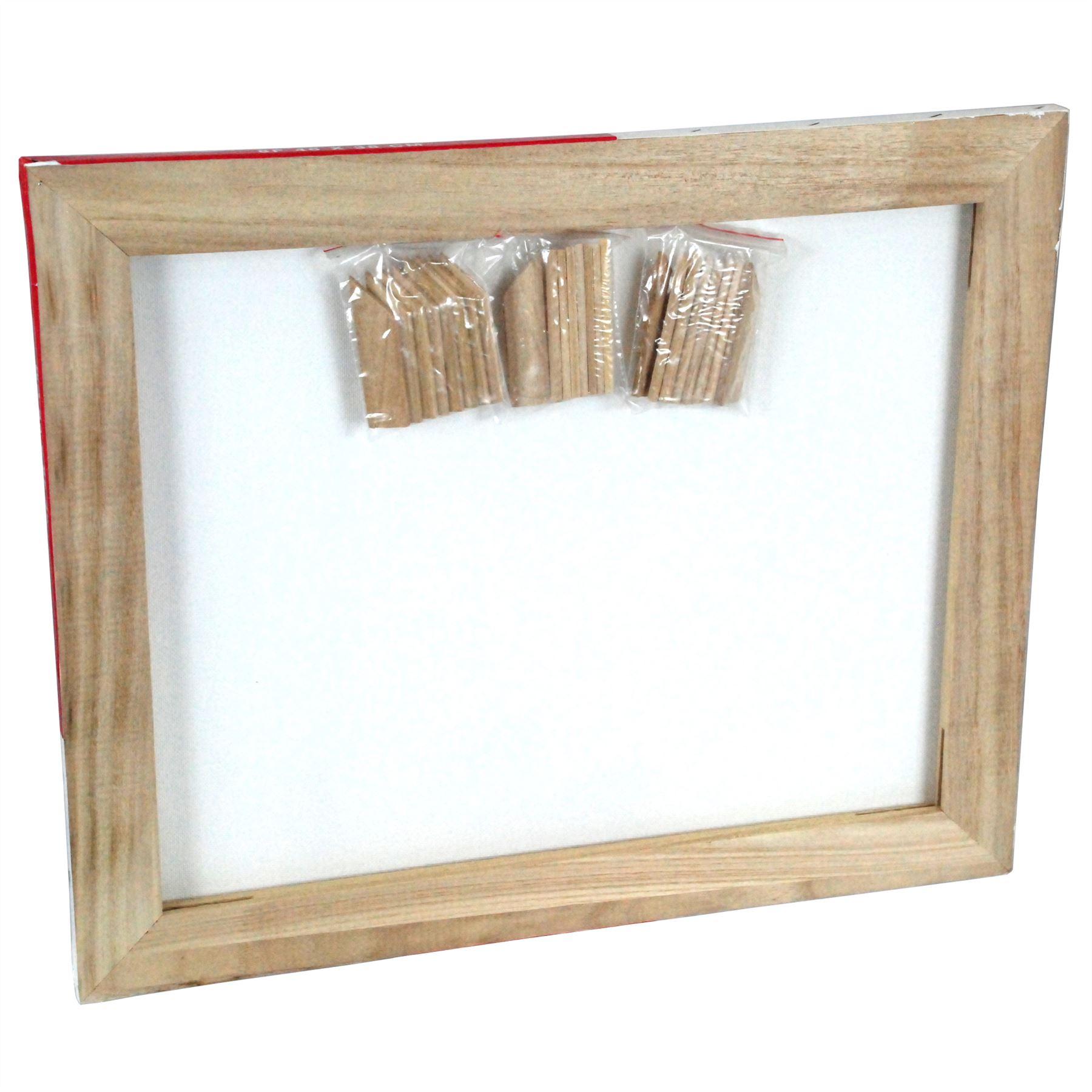 3PC Simpa® Blank Framed Stretch Canvas Set Framed Blank Cotton Canvas