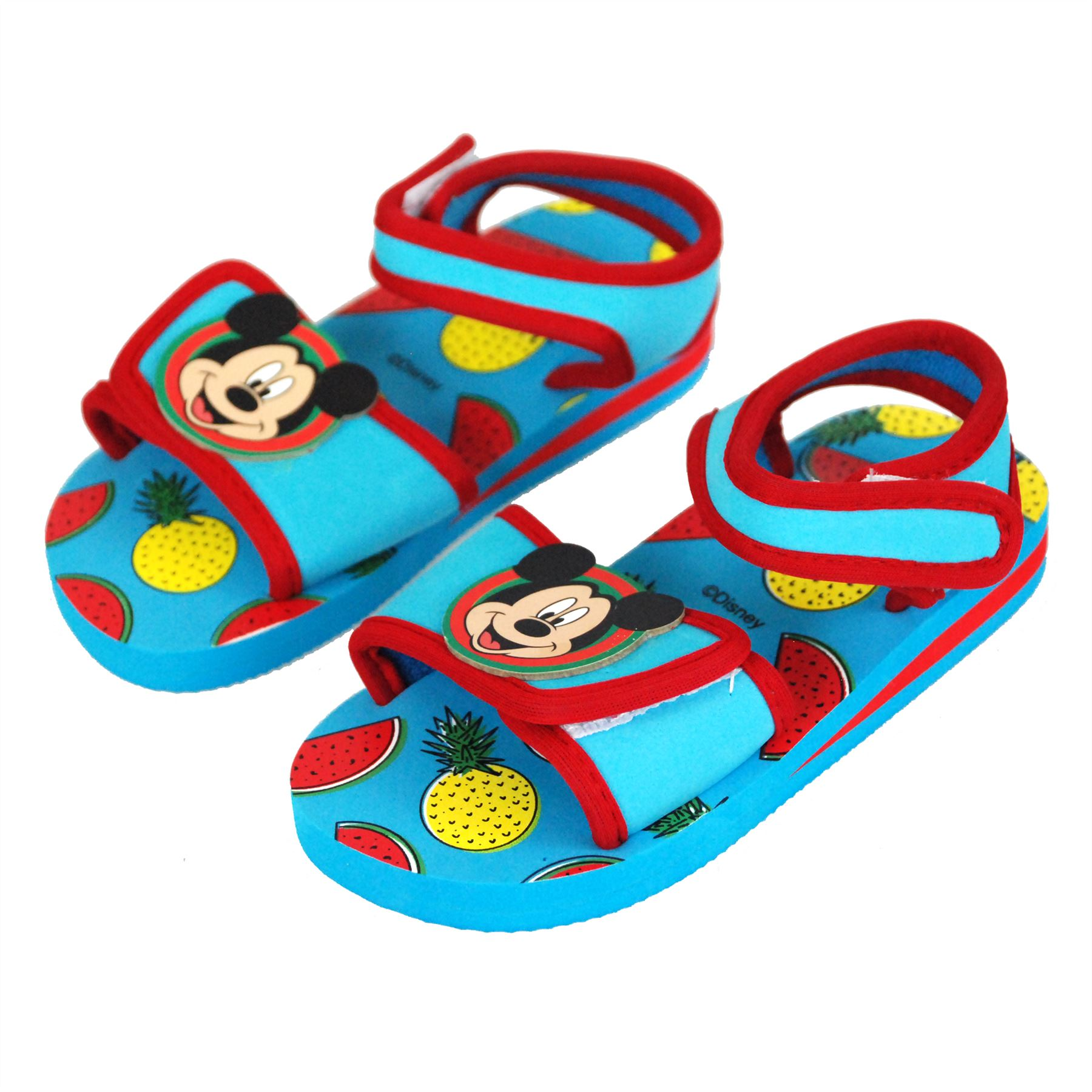 Disney Mickey Mouse Boys Velcro Walking Sandals Beach & Pool