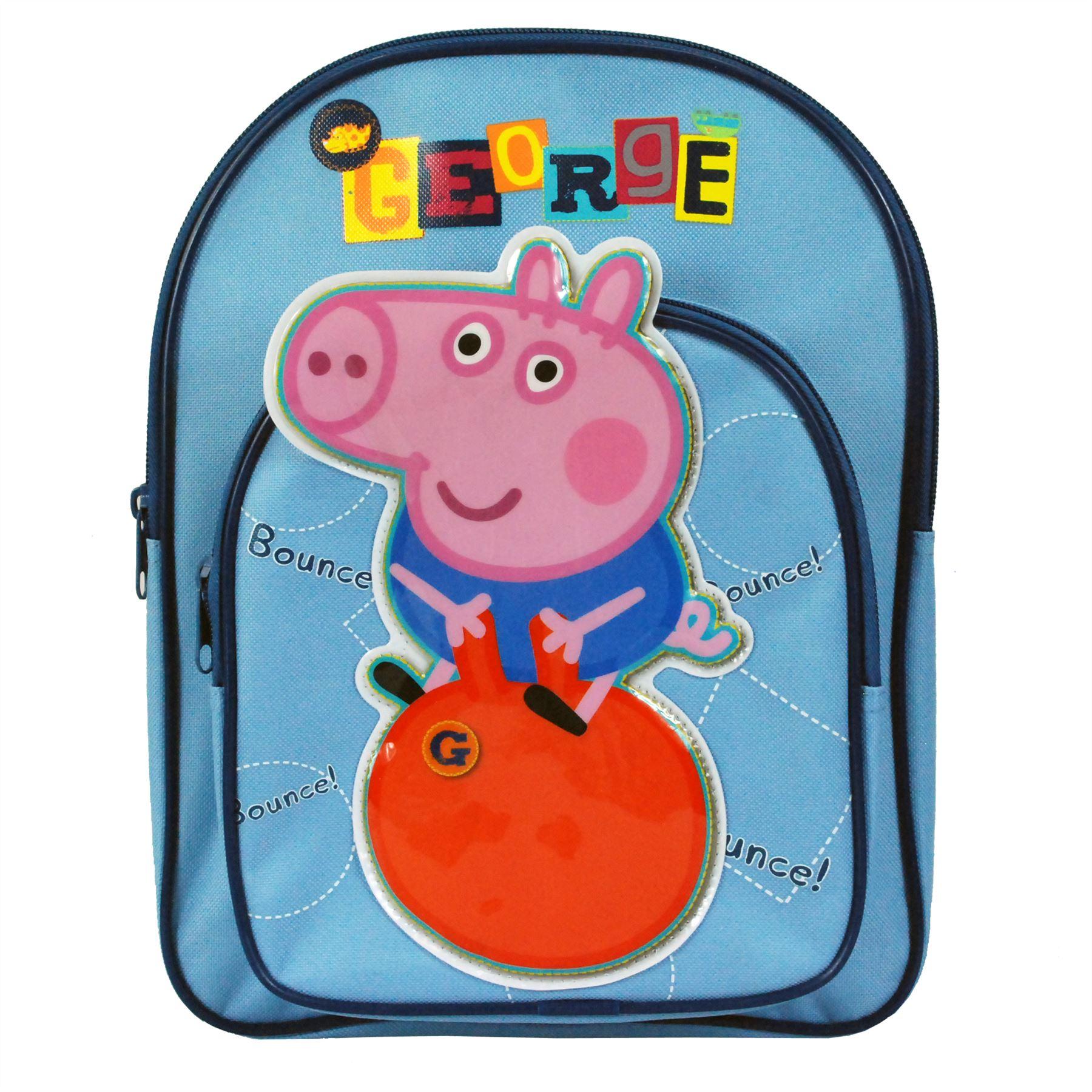 Peppa Pig Bounce George Boys Blue Kids Rucksack Travel Bag Childrens  Backpack e6b12cb5cb