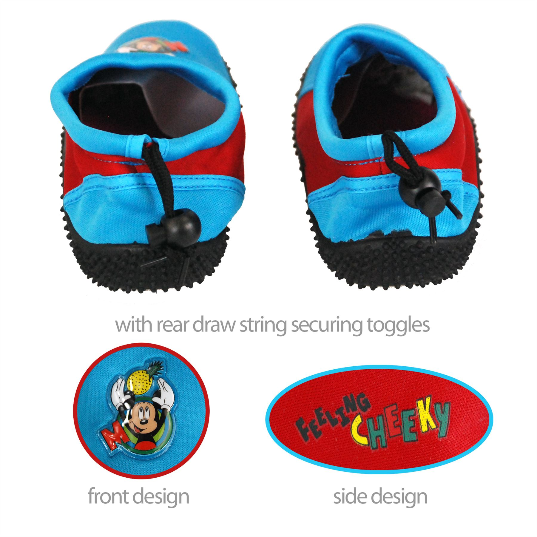 Disney ficial Mickey Mouse Children Kids Boys Surf Aqua Shoes for