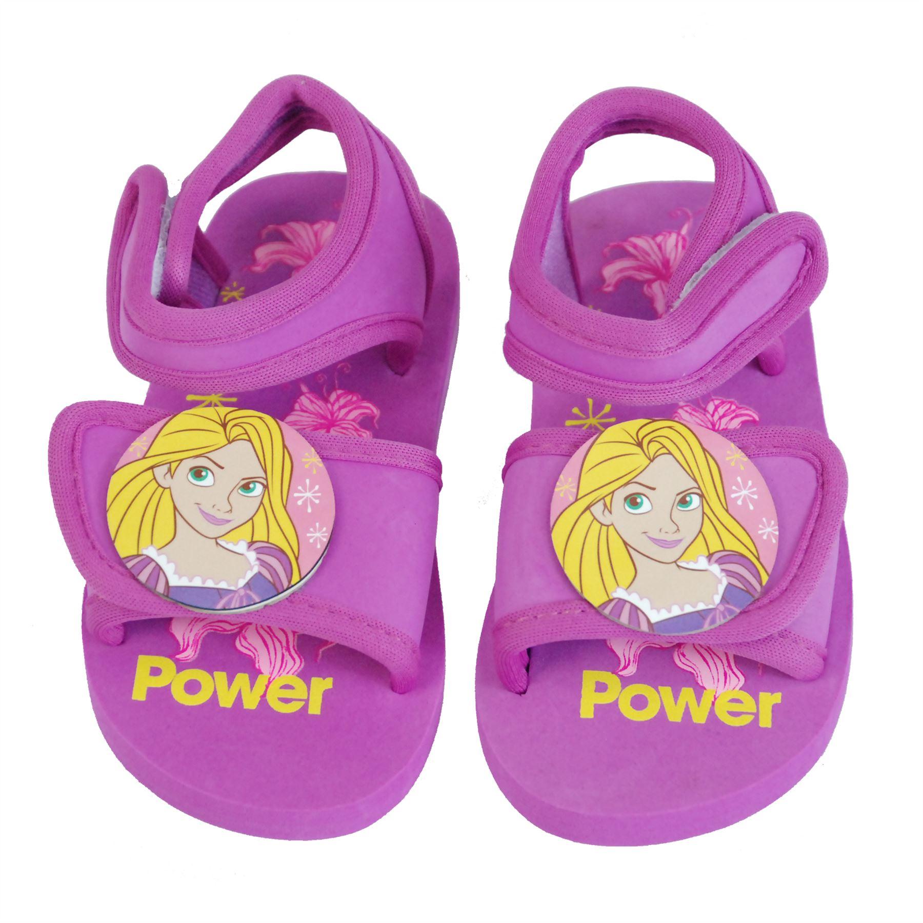 Disney ficial Princess Girls Velcro Sandals Indoor Outdoor Beach