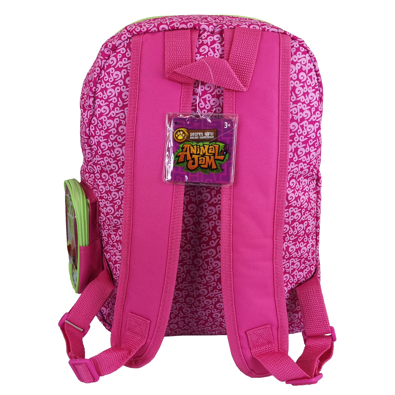 Animal Jam Junior Glitter Backpack Large Pink /& Green Bag with Glitter Finish
