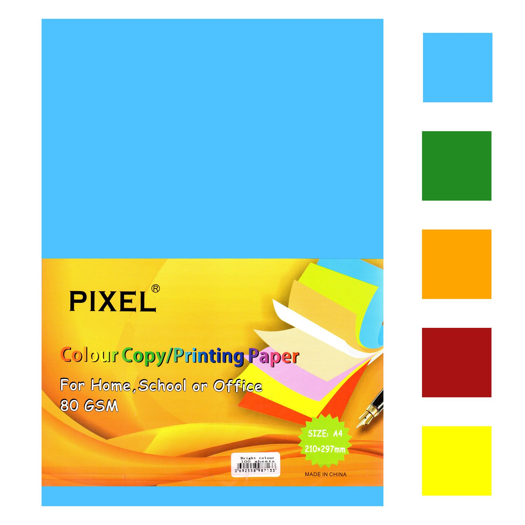 Pixel® A4 Paper for Home Office Neon - 80GSM - 100 Sheets School