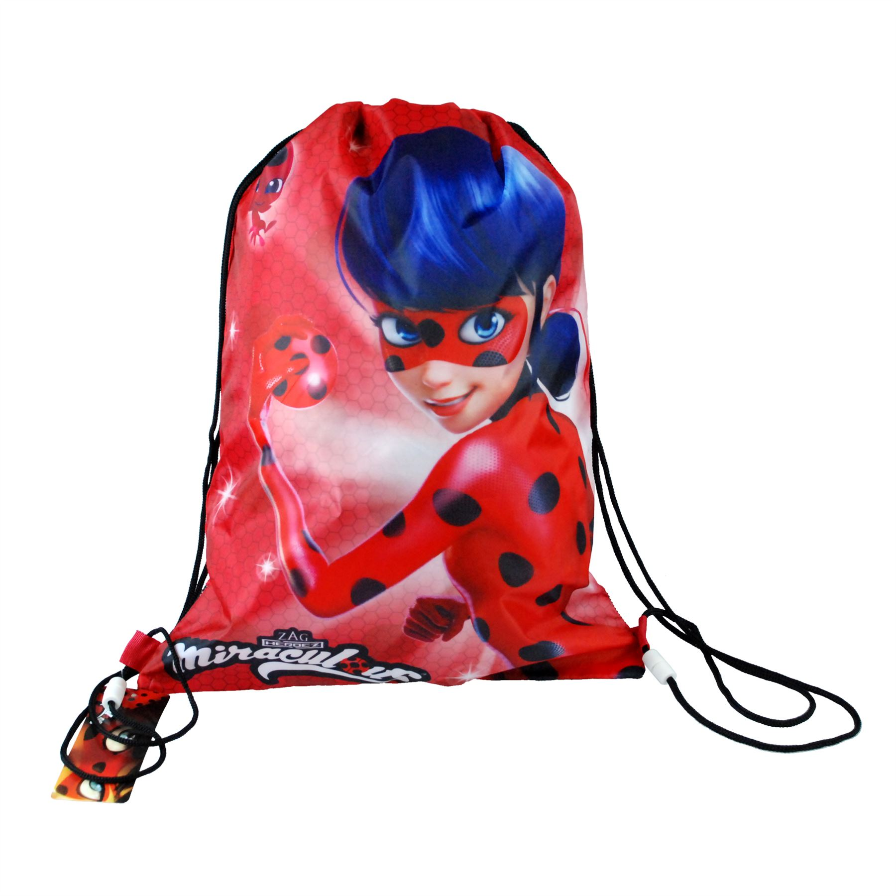 ZAG Heroez® Official Miraculous Ladybug Draw String Bag   Back To School  Range