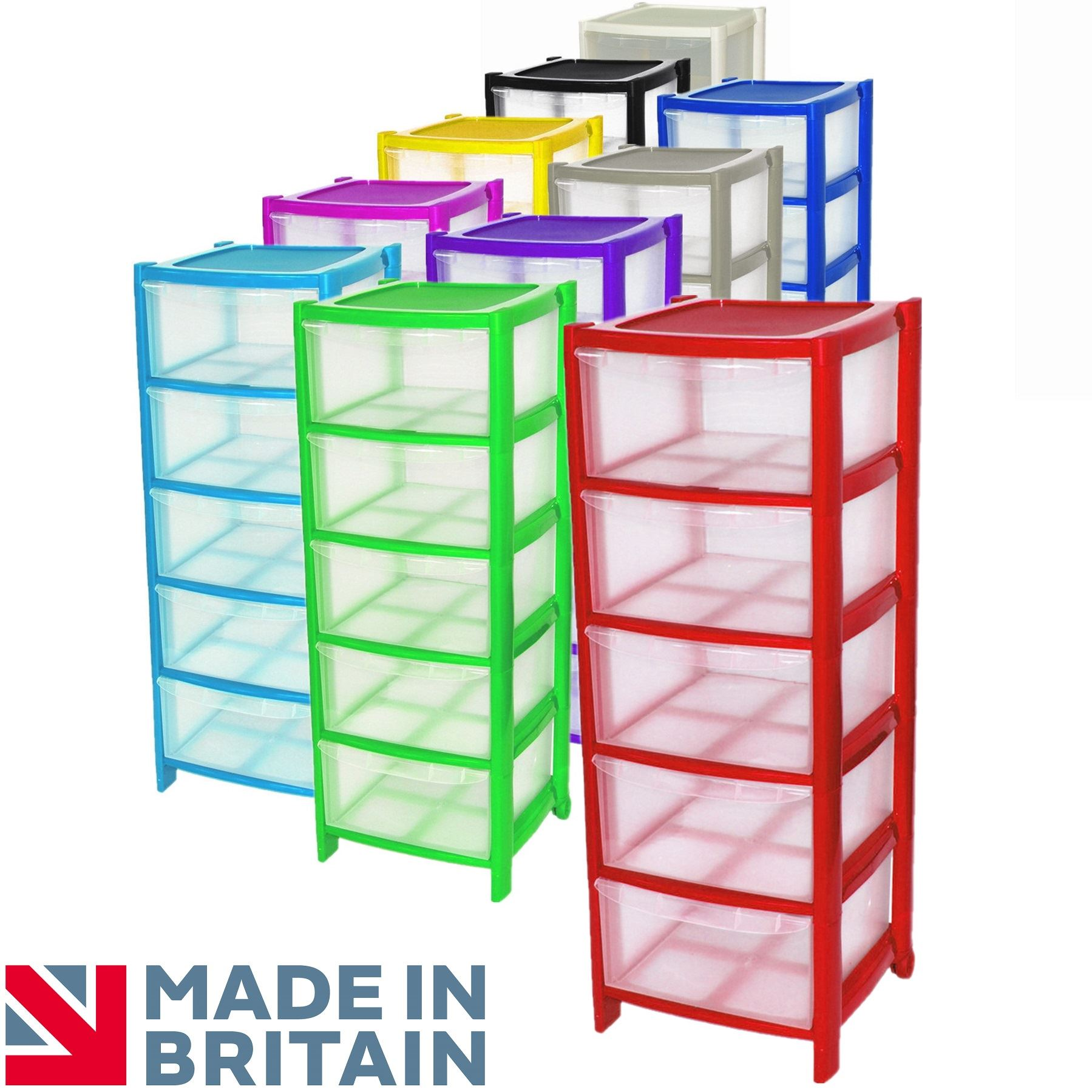plastic drawer organizer crazygadget 174 plastic large tower storage drawers chest 28910