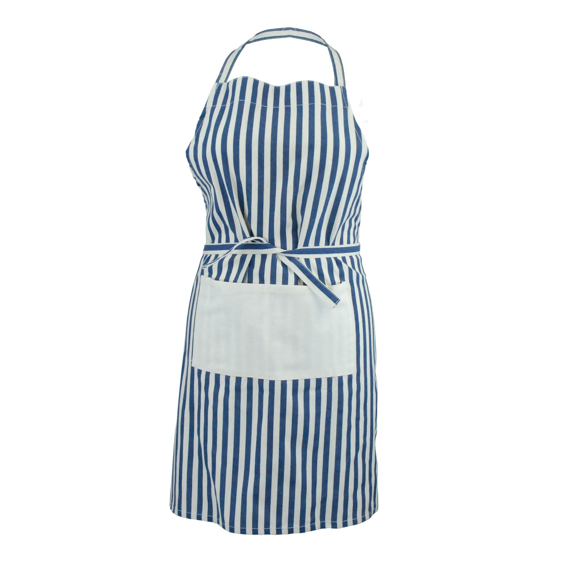 100 Cotton Kitchen Unisex Chef Cook Bbq Aprons Available In 5 Designs Ebay