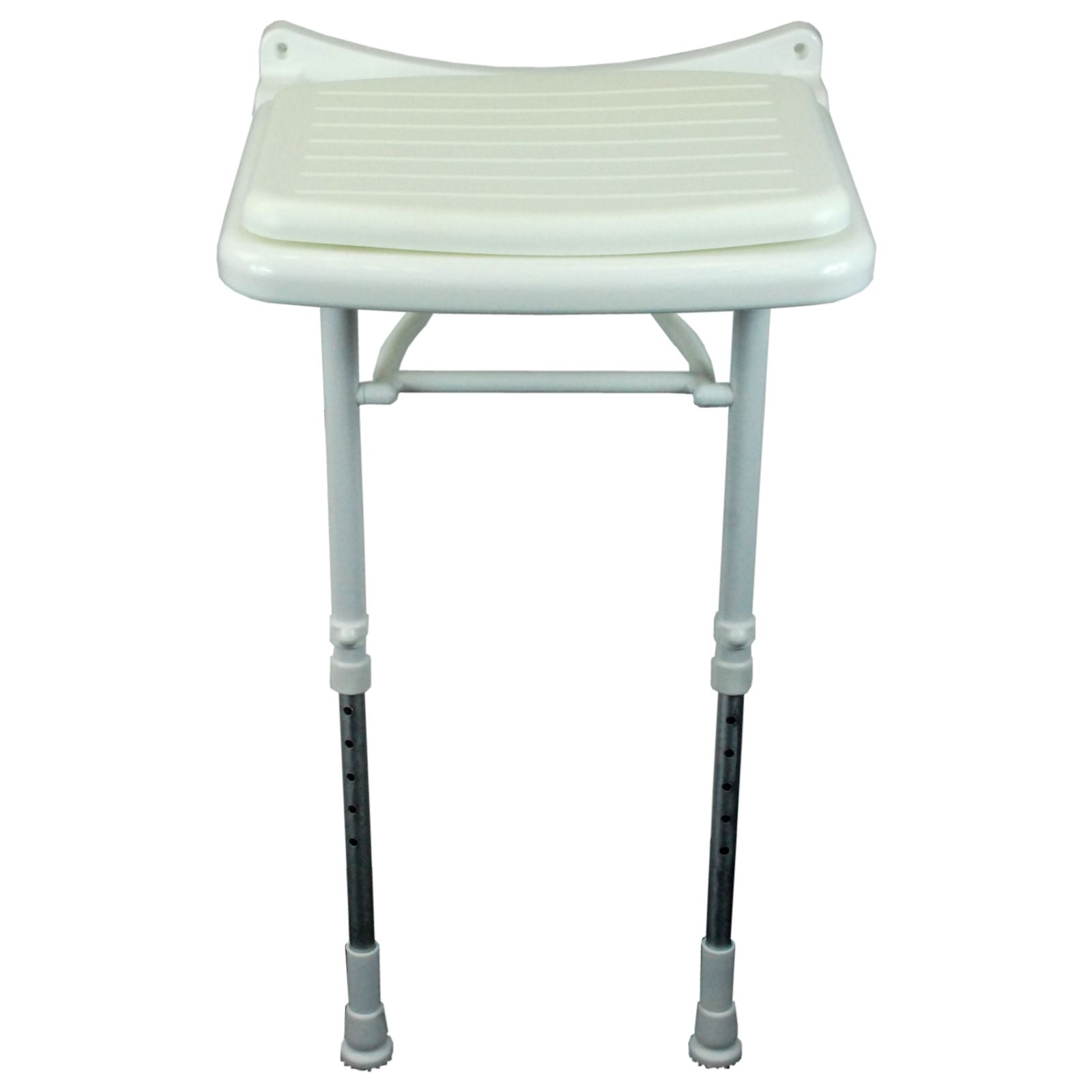 Saracen Padded Seat Wall Mounted Hinged Shower Seat With Adjustable ...