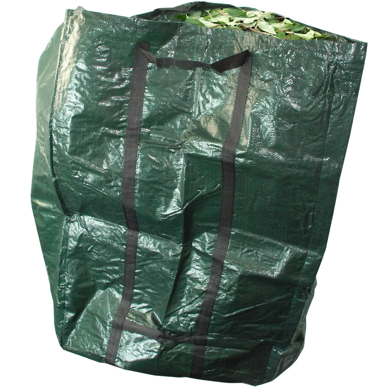 Garden waste heavy duty handle compost grass leaves soil for Compost soil bags