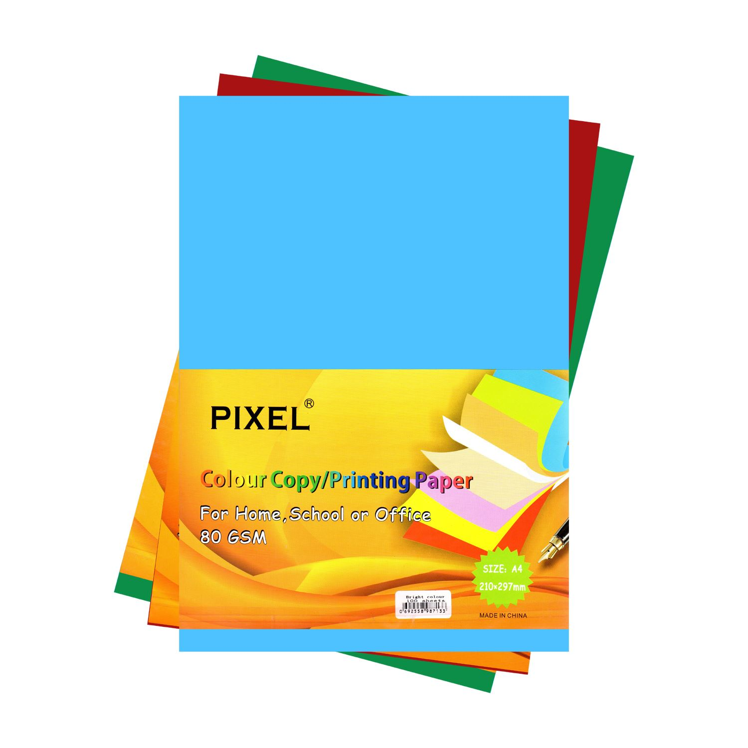 School Pixel® Neon Colour Card for Home Arts /& Crafts 160GSM - 50 Sheets