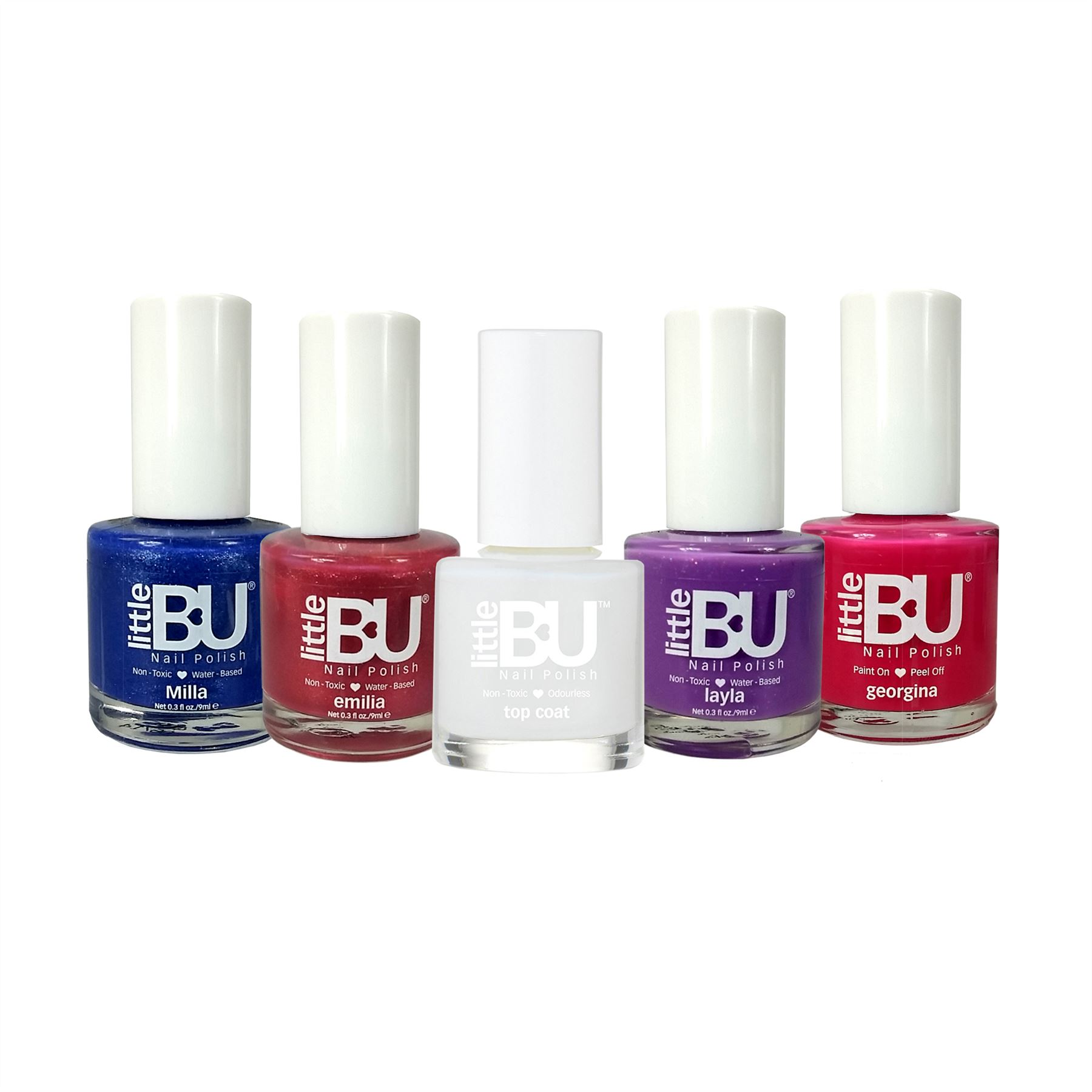 Little BU® Water Based & Peel Off Non-Toxic Colour Nail Polish for ...