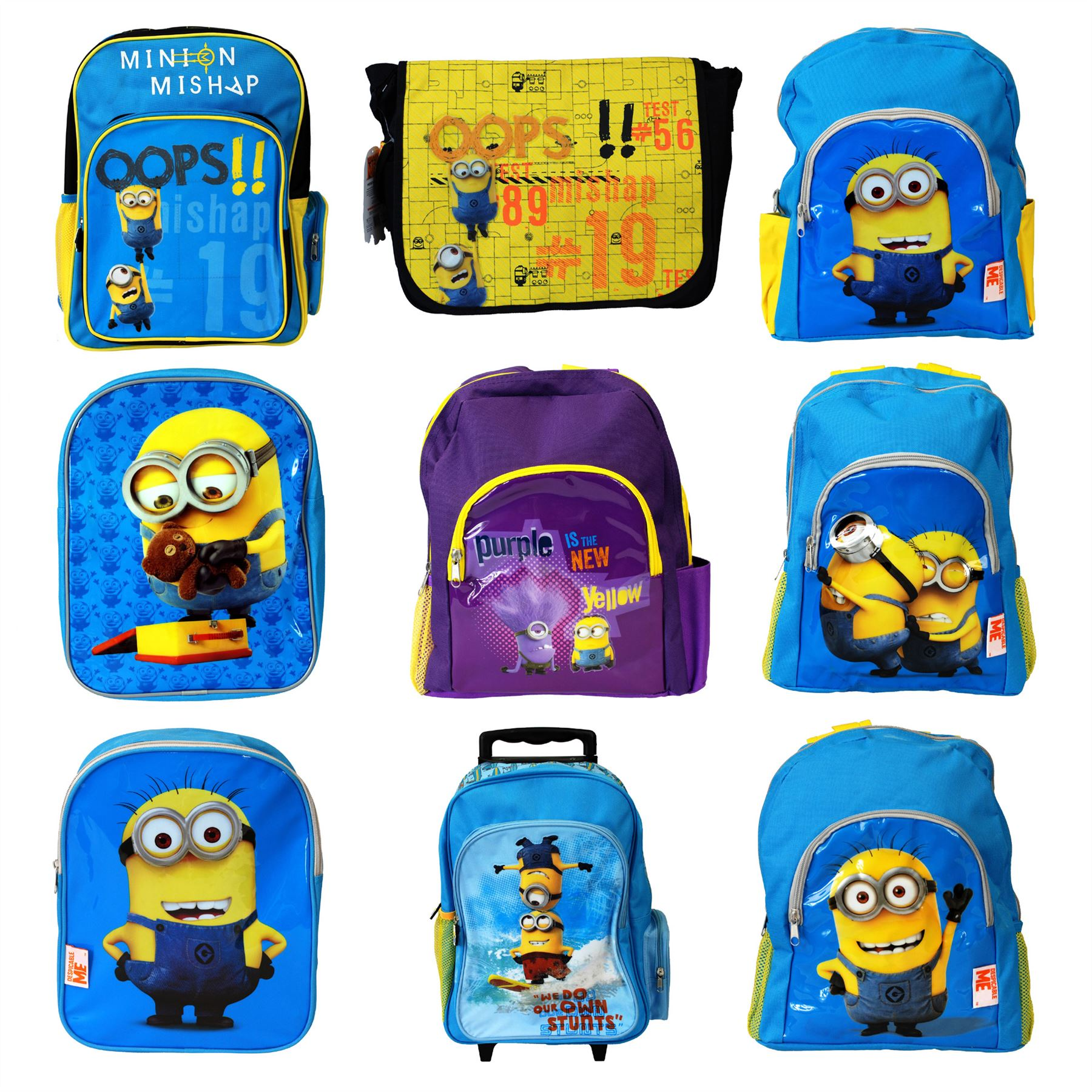 290bff6fce Details about Universal® Despicable Me Minions Childrens Bags Backpack  Messenger School Bags