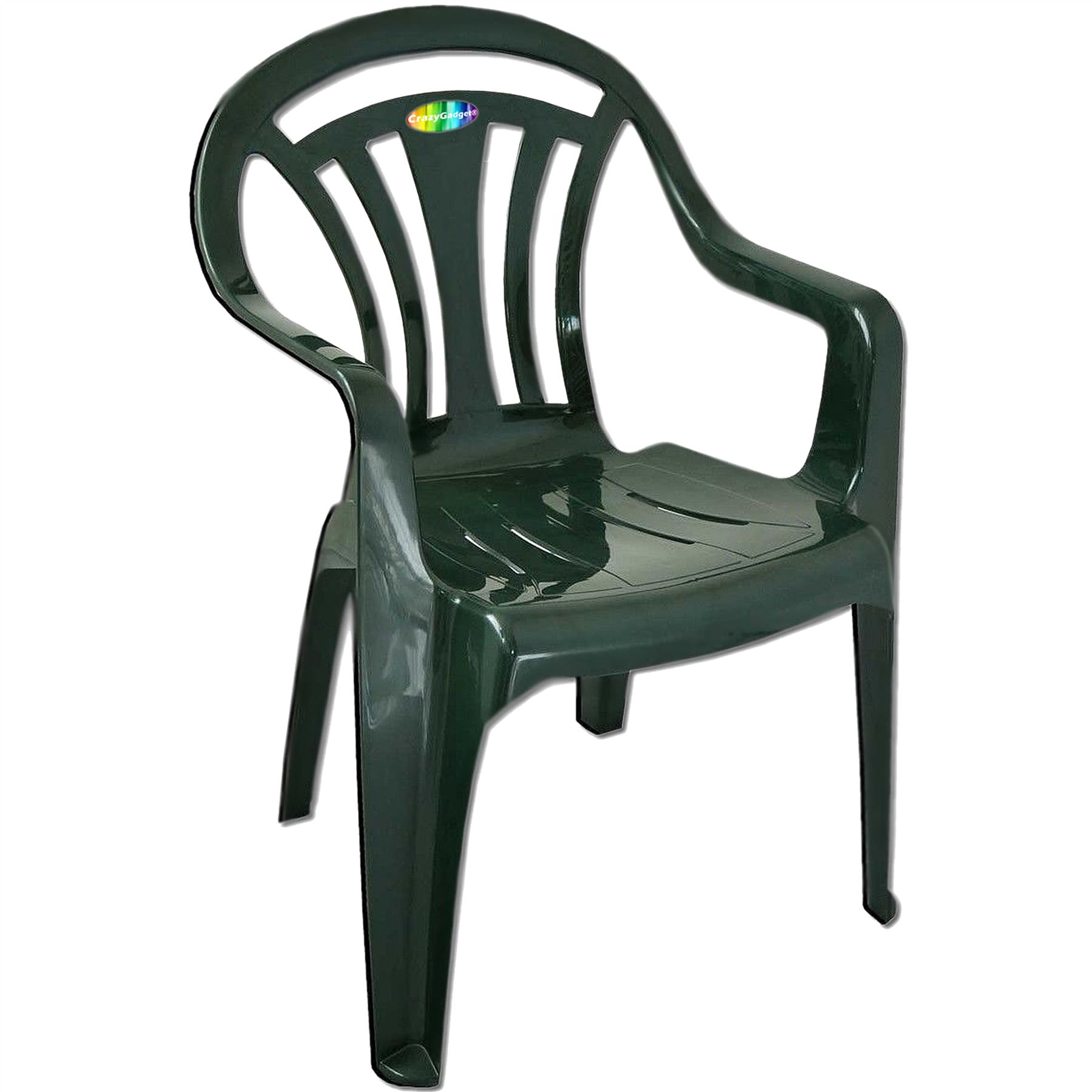 Plastic Garden Low Back Chair Stackable Patio Outdoor